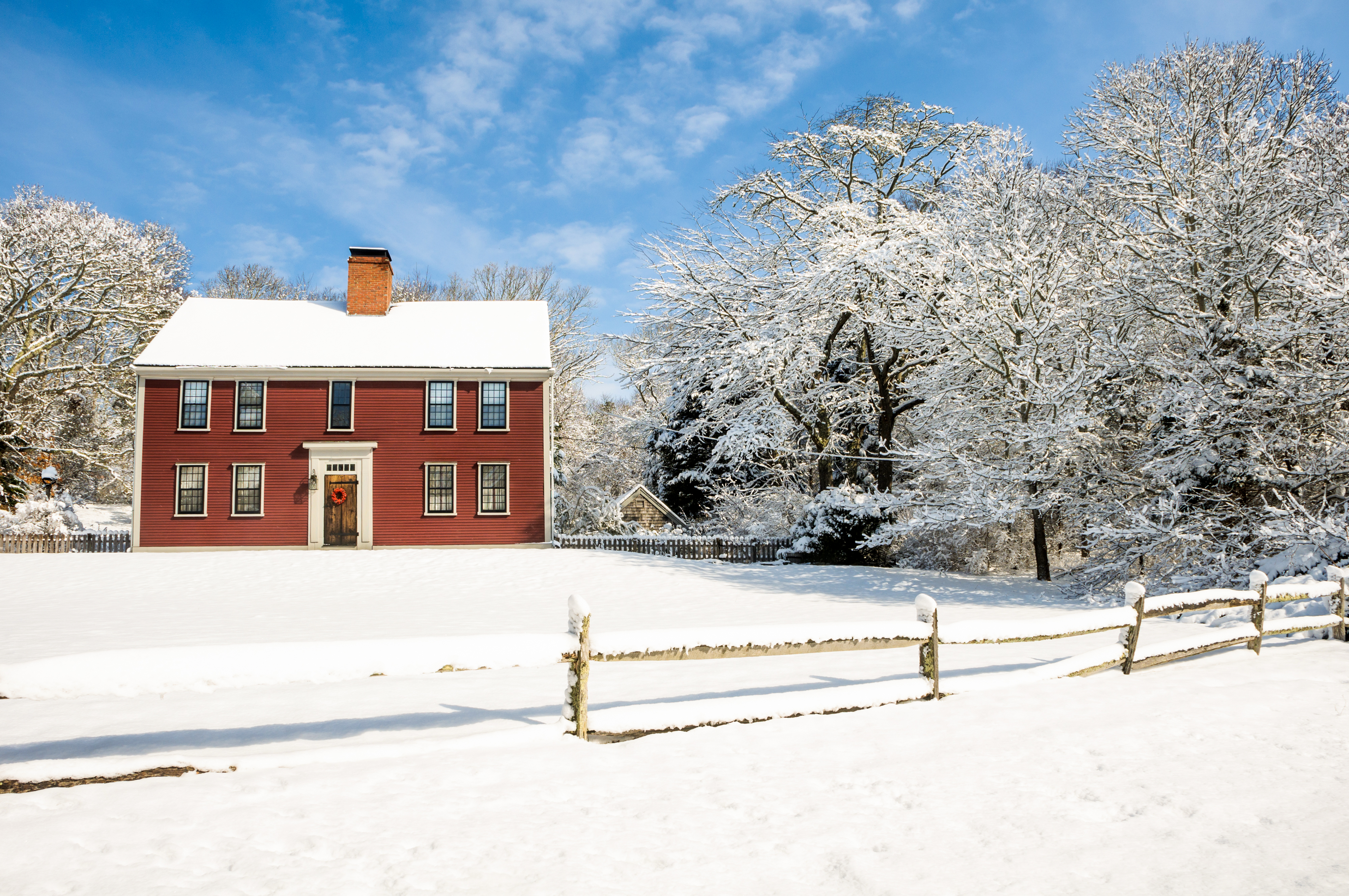 Snowy, Winter, House