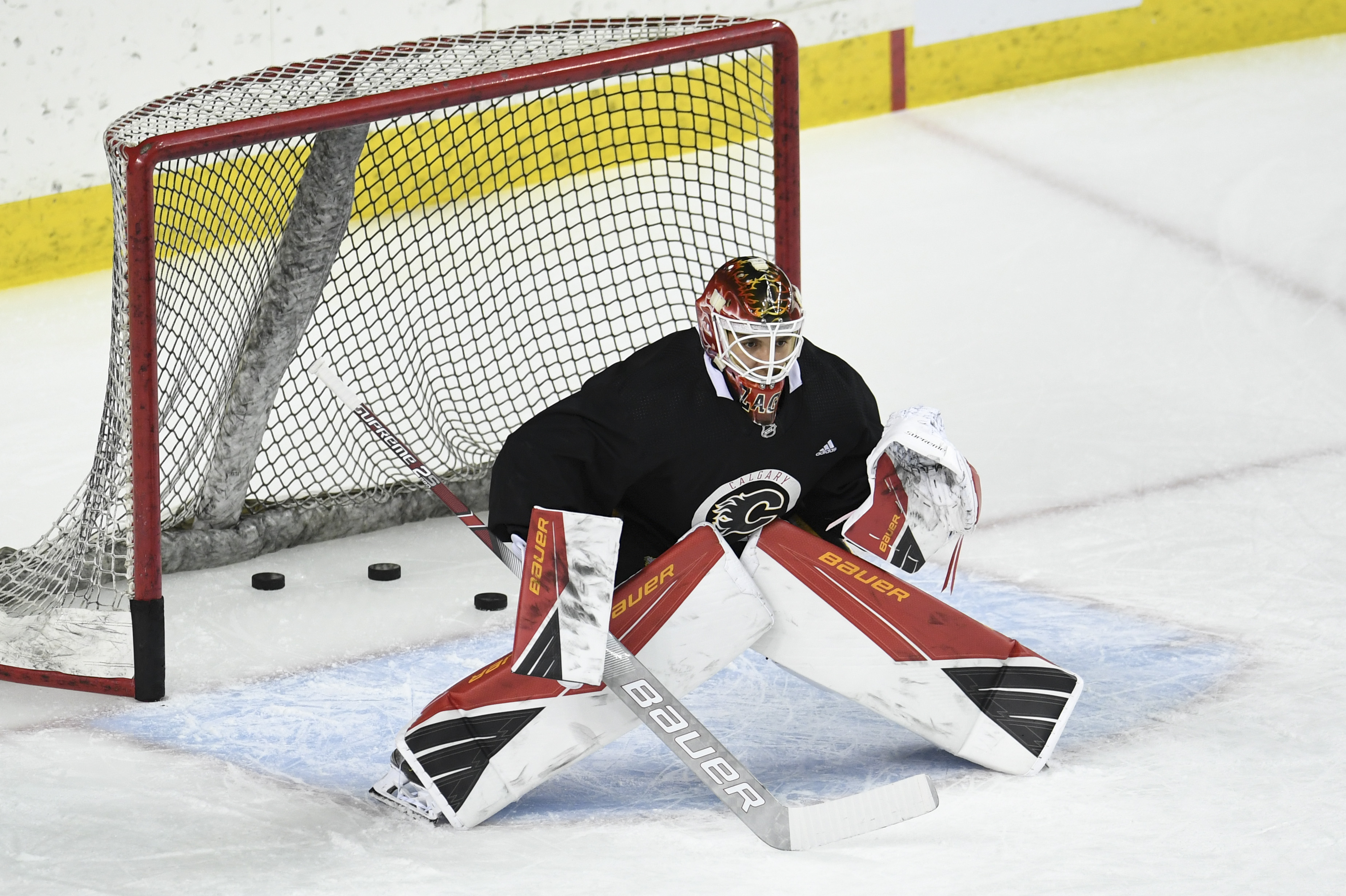 NHL: Calgary Flames-Workouts