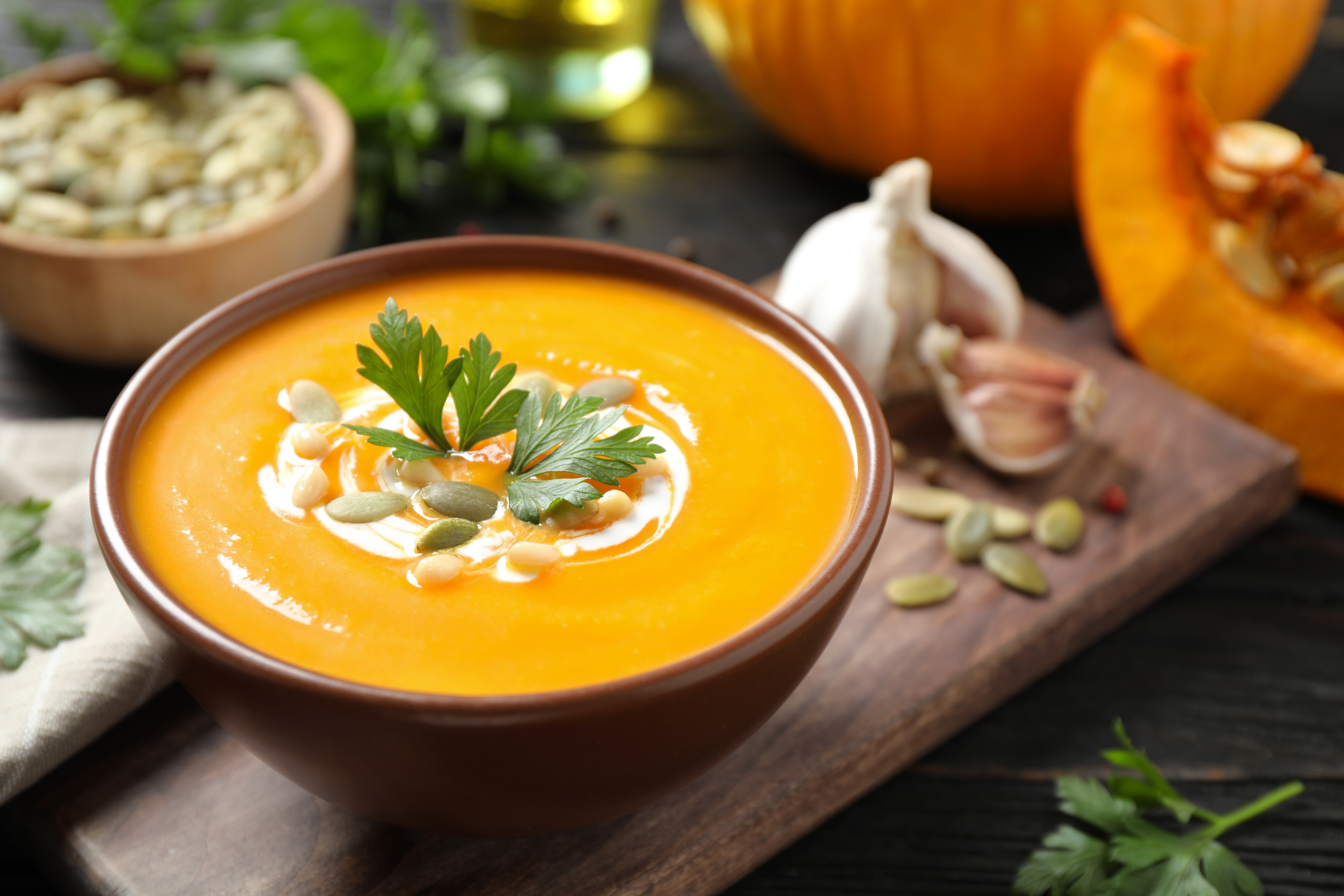Pumpkin soup is a fall and winter favorite and easy to make utilizing canned pumpkin.