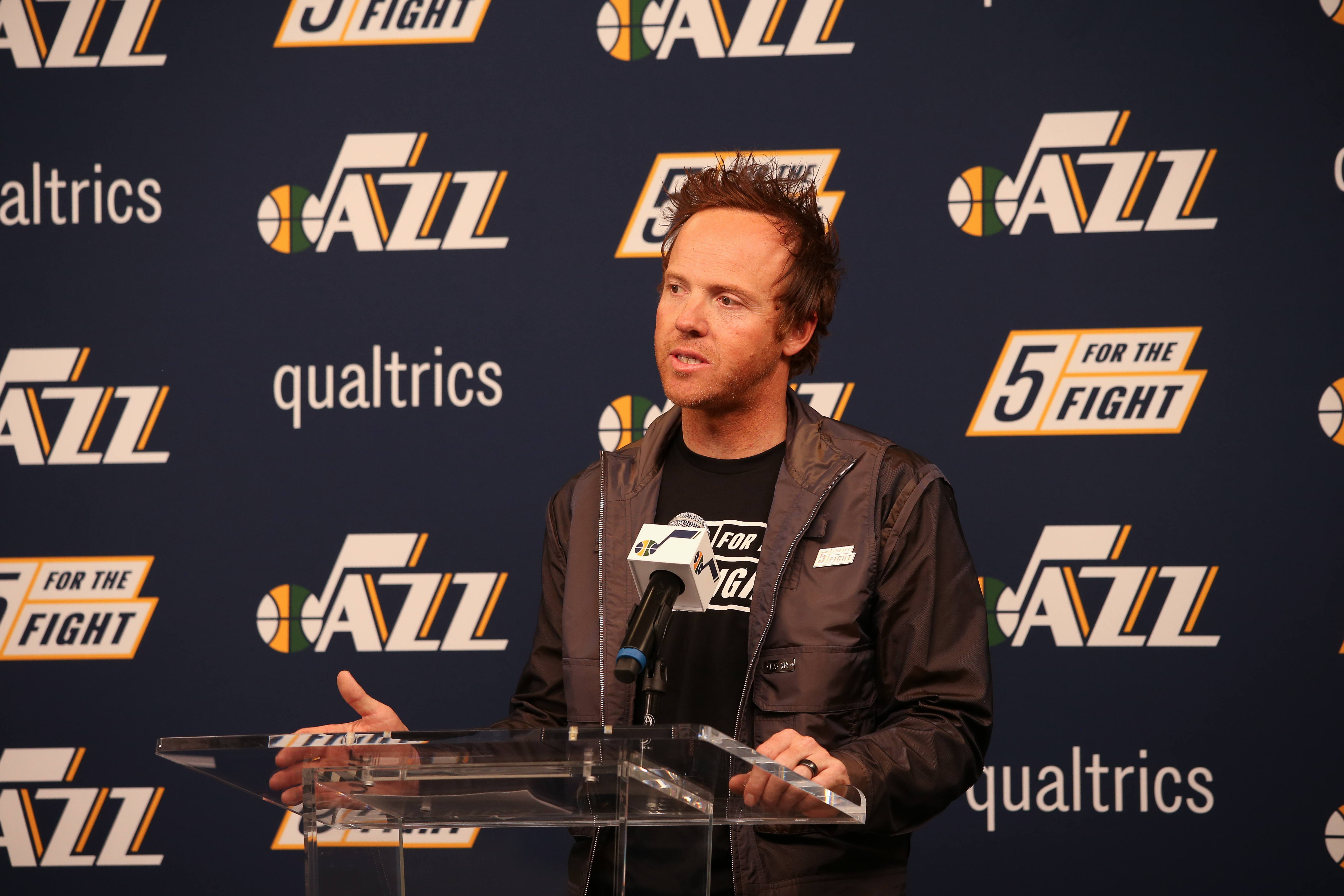 Utah Jazz Jersey Patch Announcement