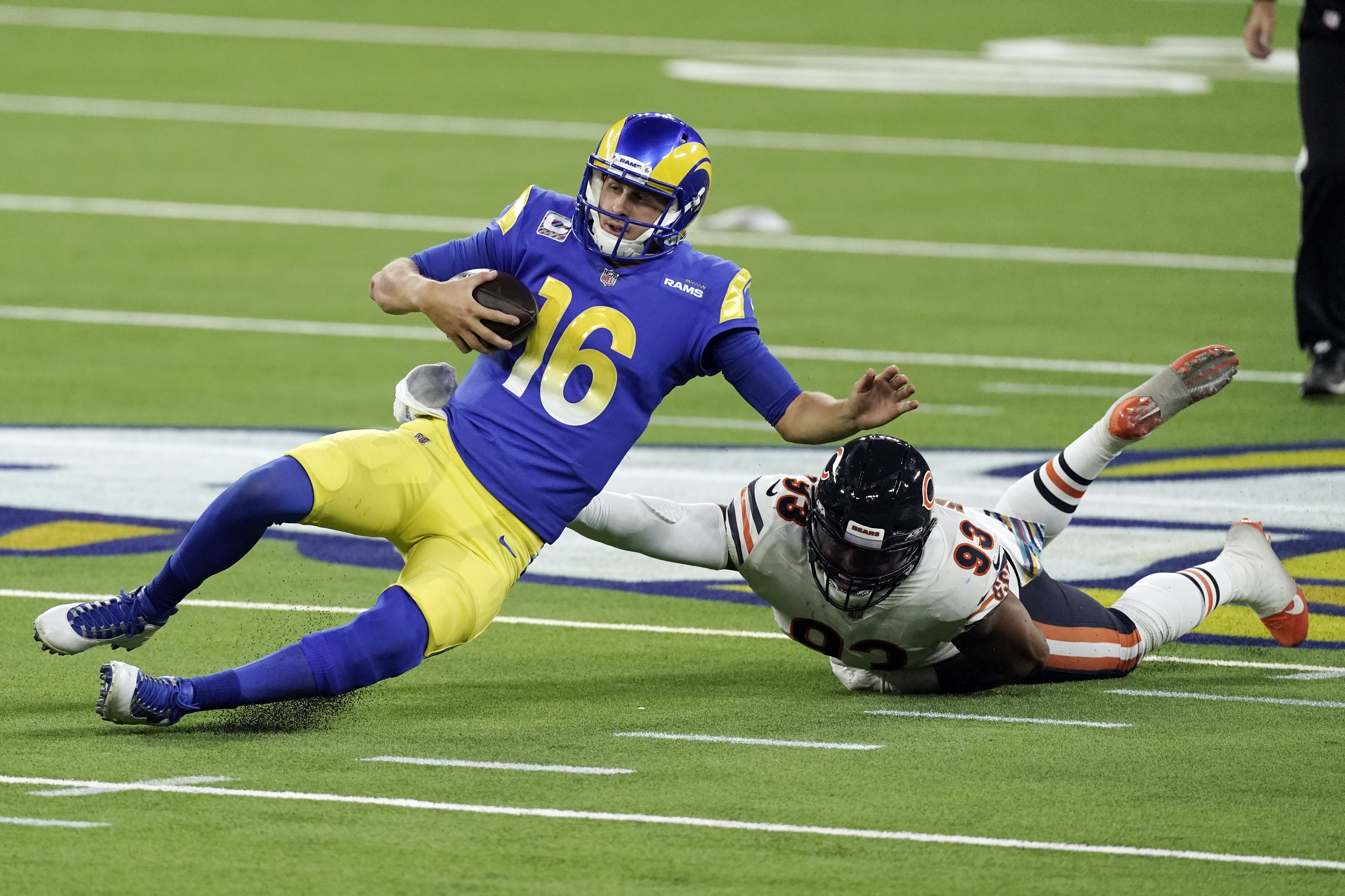 This play featuring Jared Goff and James Vaughters from Monday's Bears-Rams game might have cost a fantasy player a lot of money.