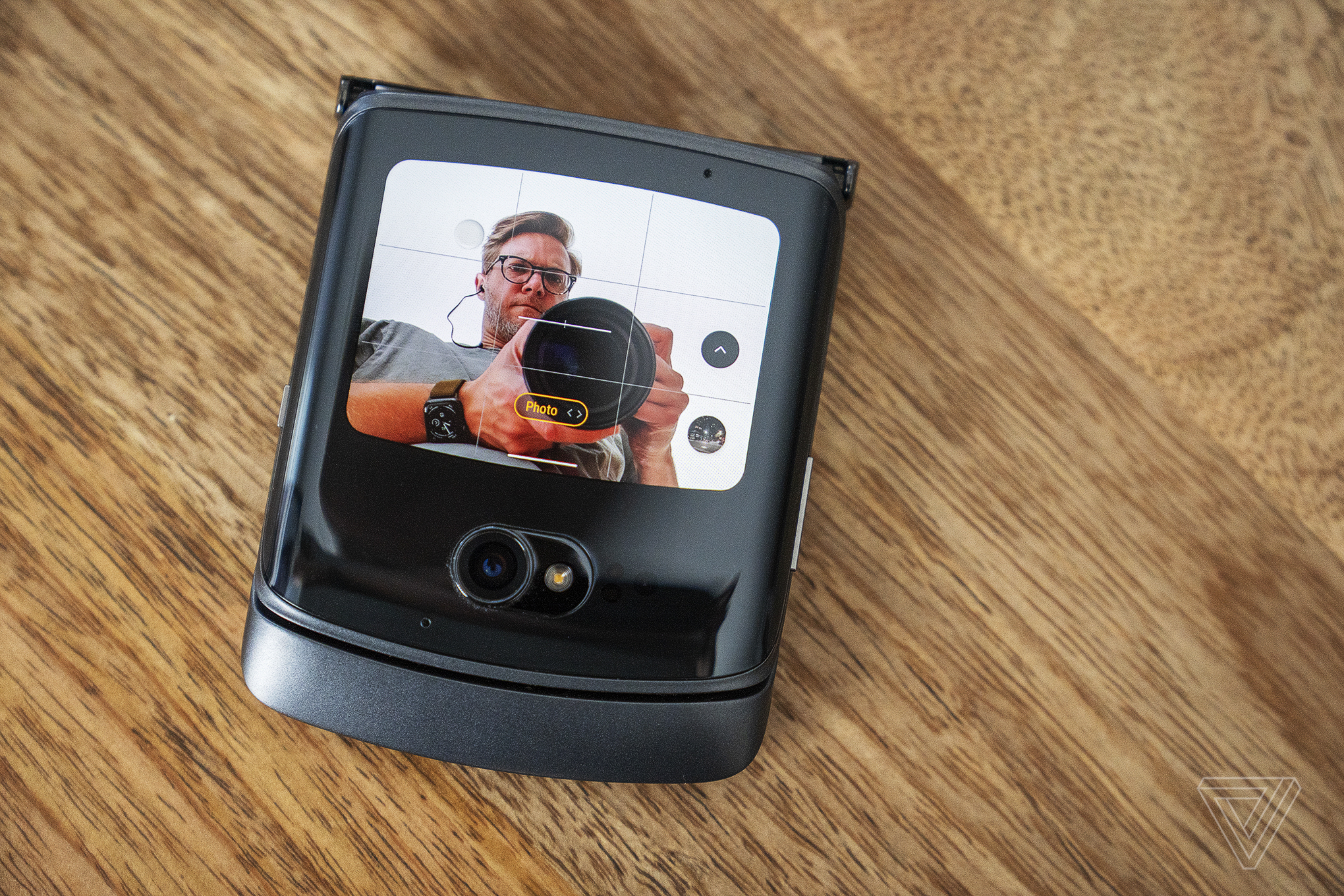 You can use the better outer camera for selfies