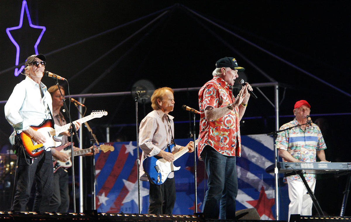 The Beach Boys perform during the Stadium of Fire at Lavell Edwards Stadium in Provo Wednesday, July 4, 2012.