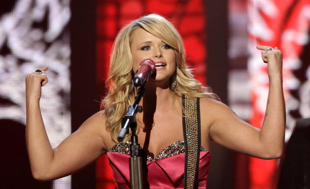 Miranda Lambert performs at the 46th Annual Academy of Country Music Awards in Las Vegas on Sunday, April 3, 2011.