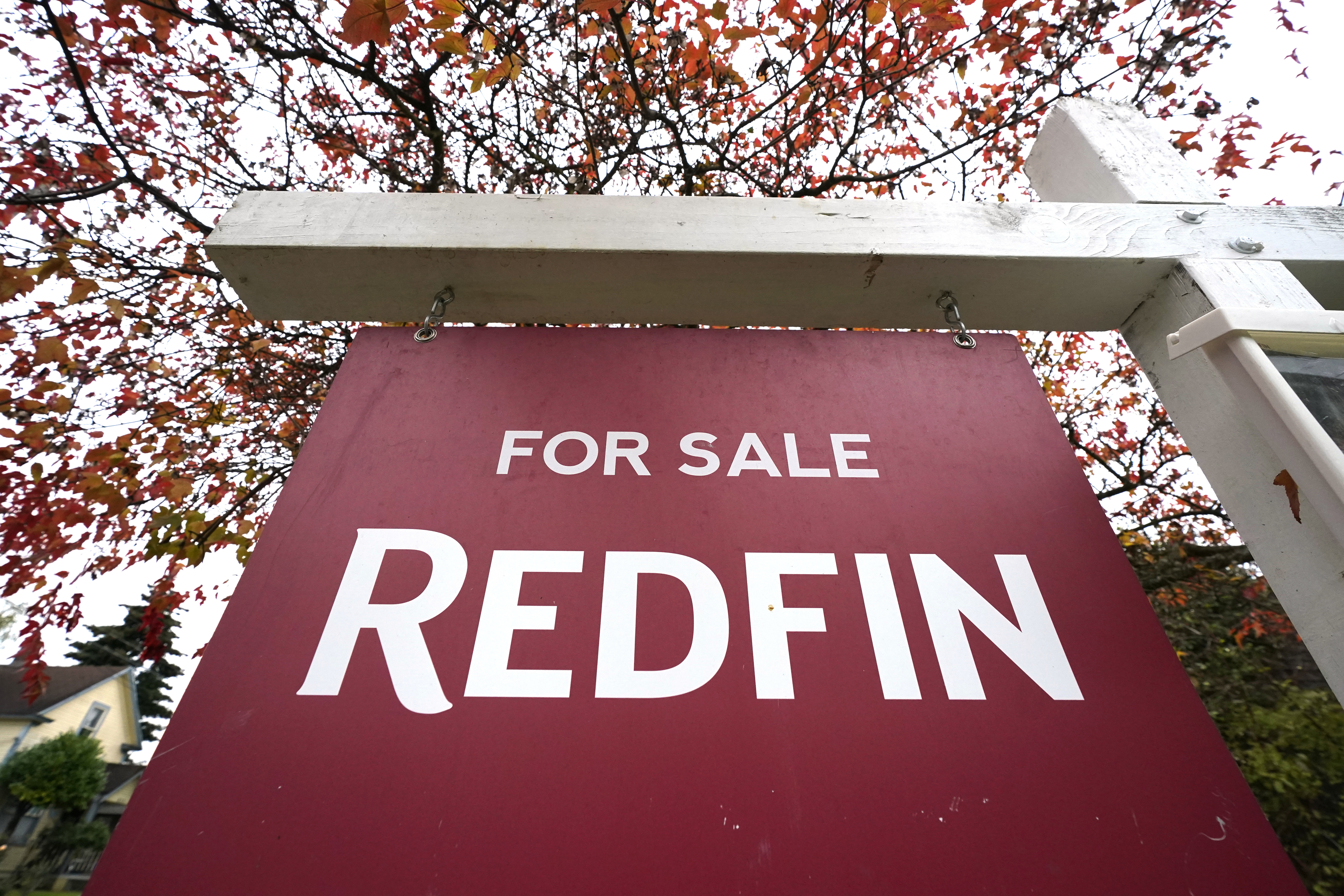 """A Redfin """"for sale"""" sign stands in front of a house Seattle, where a newly filed federal lawsuit by l fair housing organizations accuses Redfin of systematic racial discrimination."""