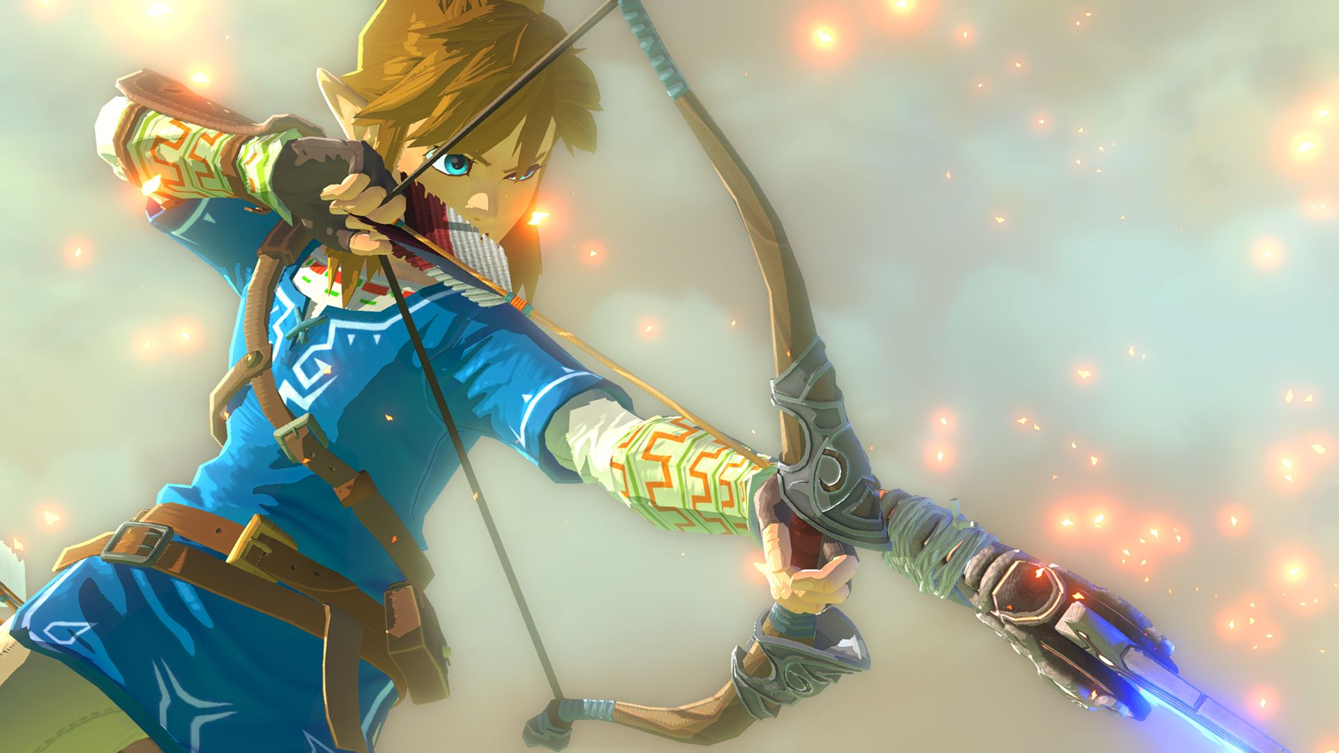Link aiming an arrow in The Legend of Zelda: Breath of the Wild
