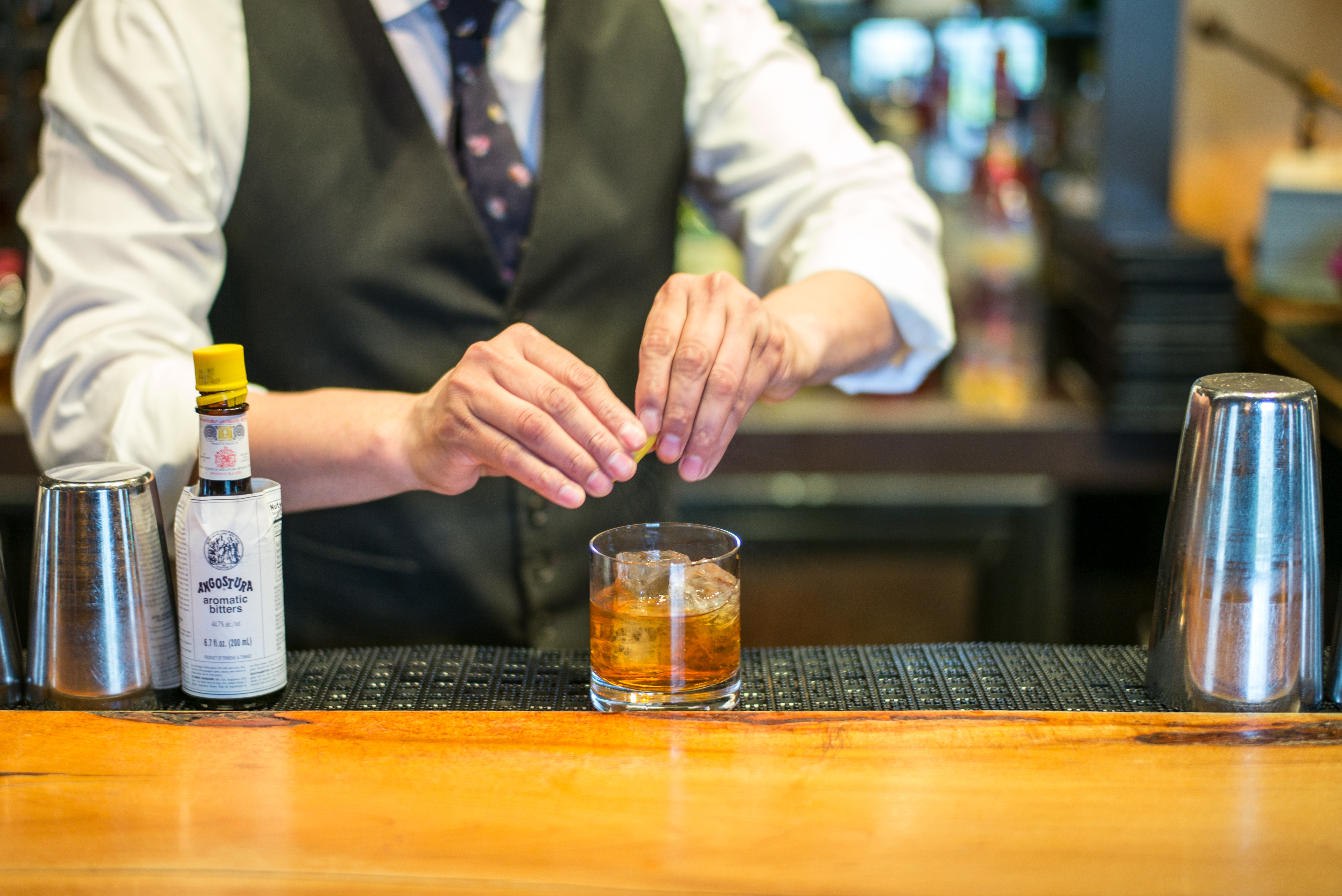 Pegu Club's Old Fashioned in the making.