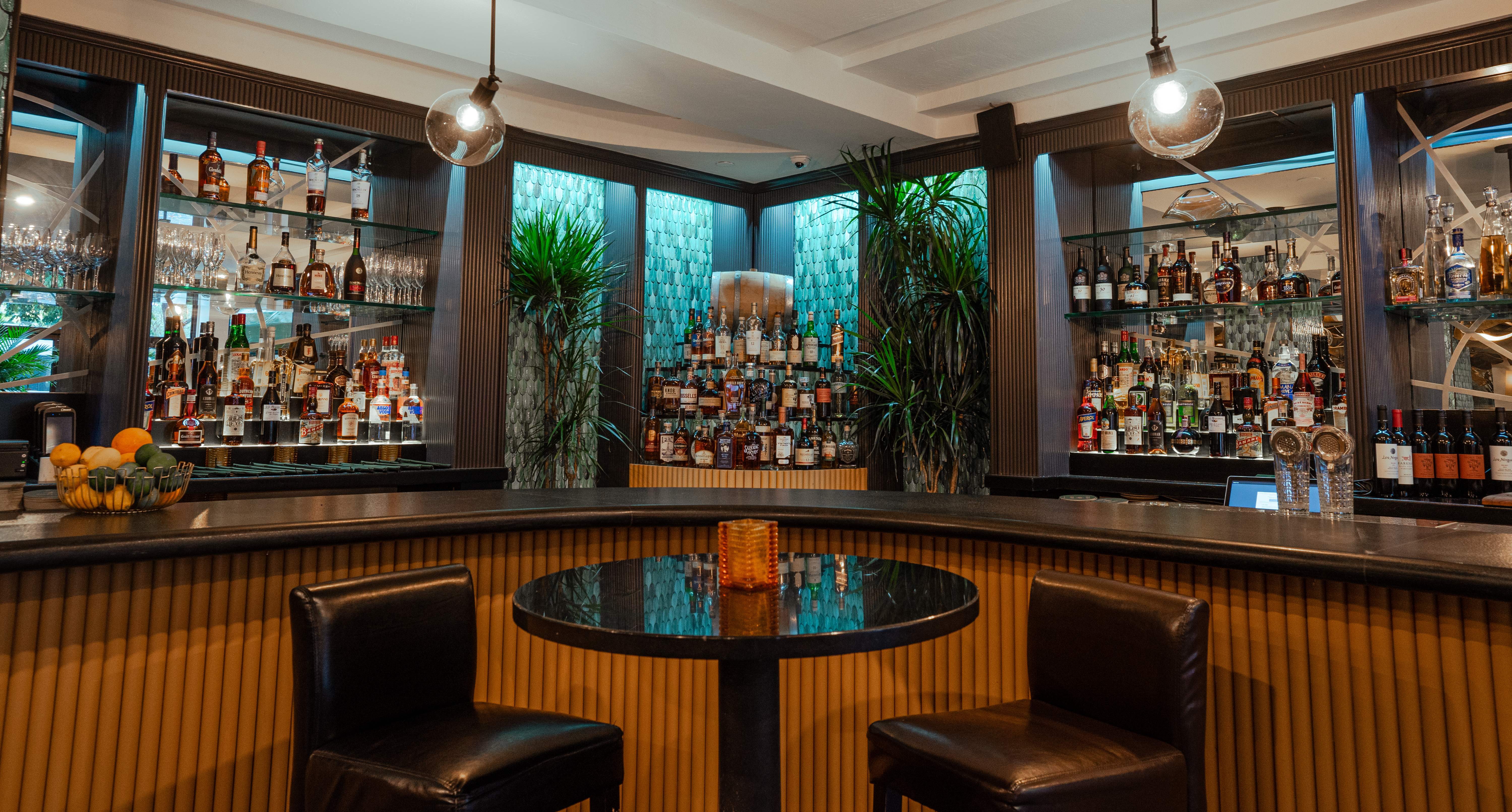 The completely revamped bar at Georgia Brown's.