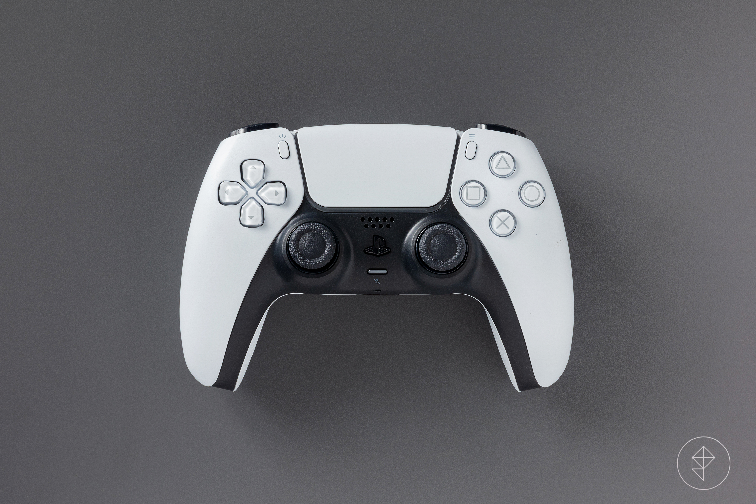 A front-facing view of the PS5 DualSense controller