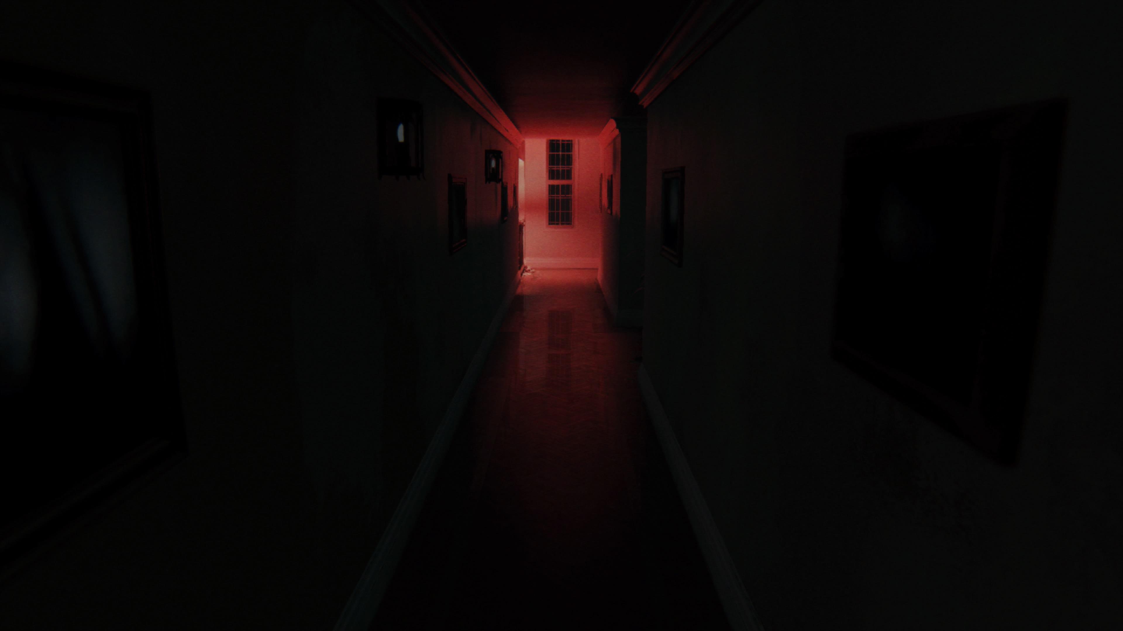 A dark hallway in P.T. captured on PlayStation 5
