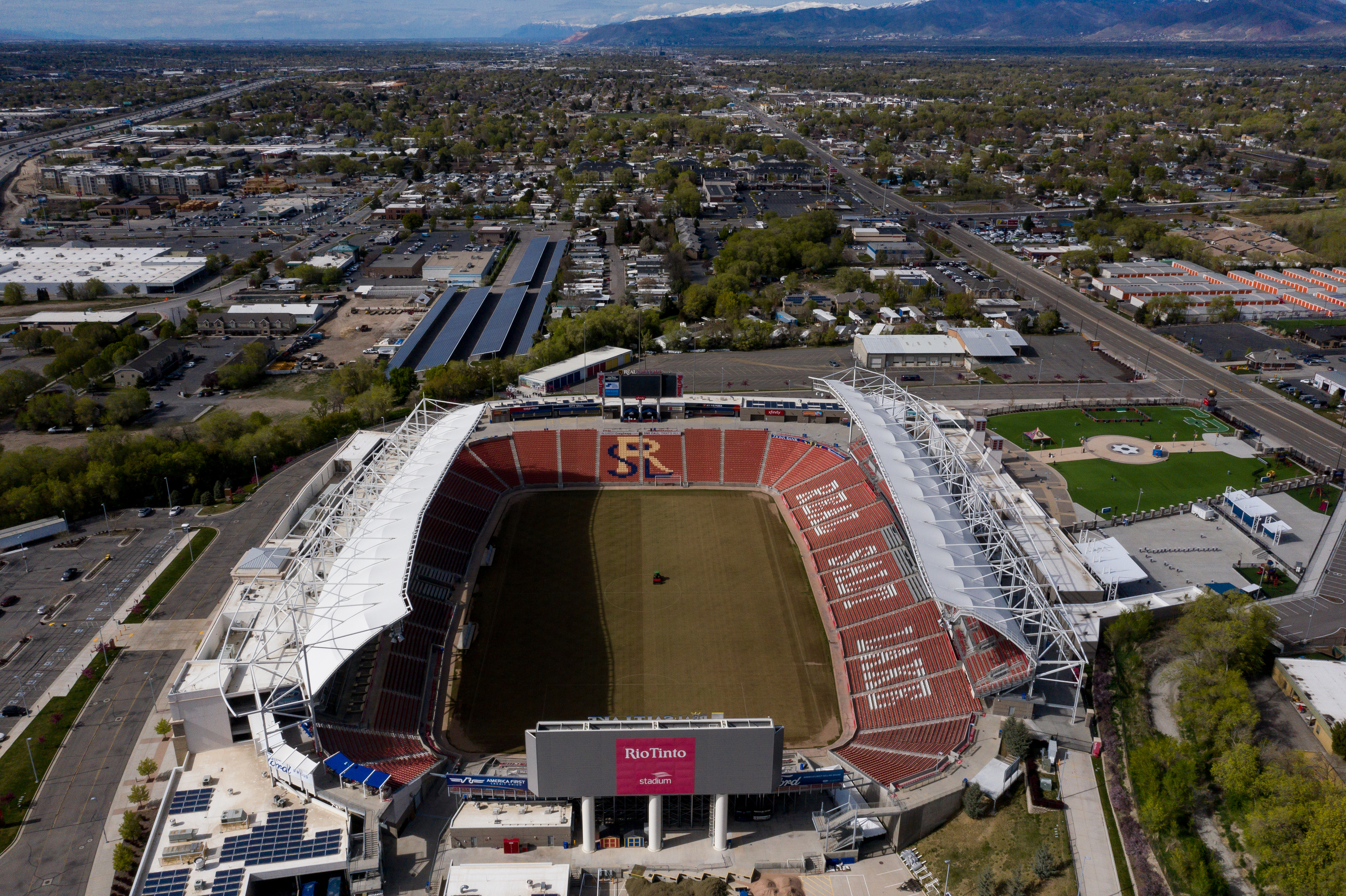 Rio Tinto Stadium in Sandy is pictured on Friday, April 24, 2020.
