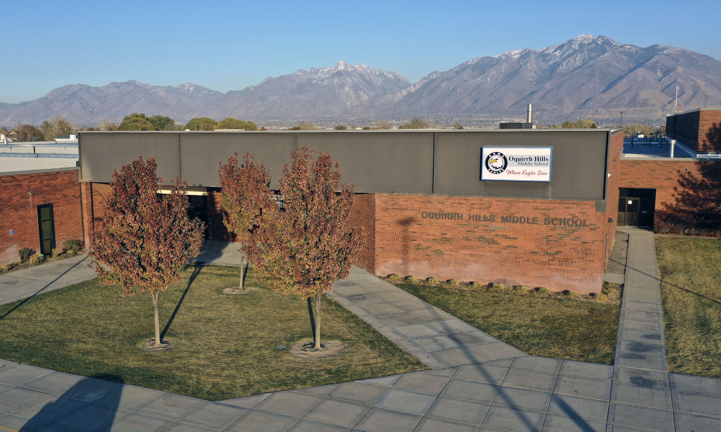Oquirrh Hills Middle School in Riverton is pictured on Tuesday, Nov. 5, 2019.