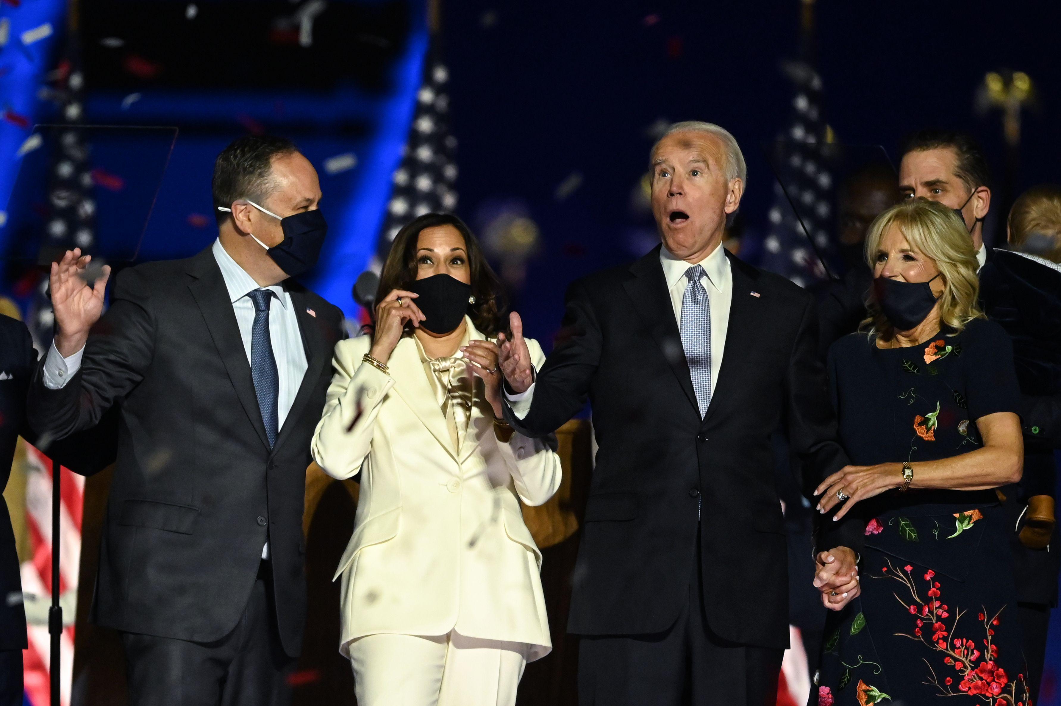 Joe Biden and Kamala Harris speeches