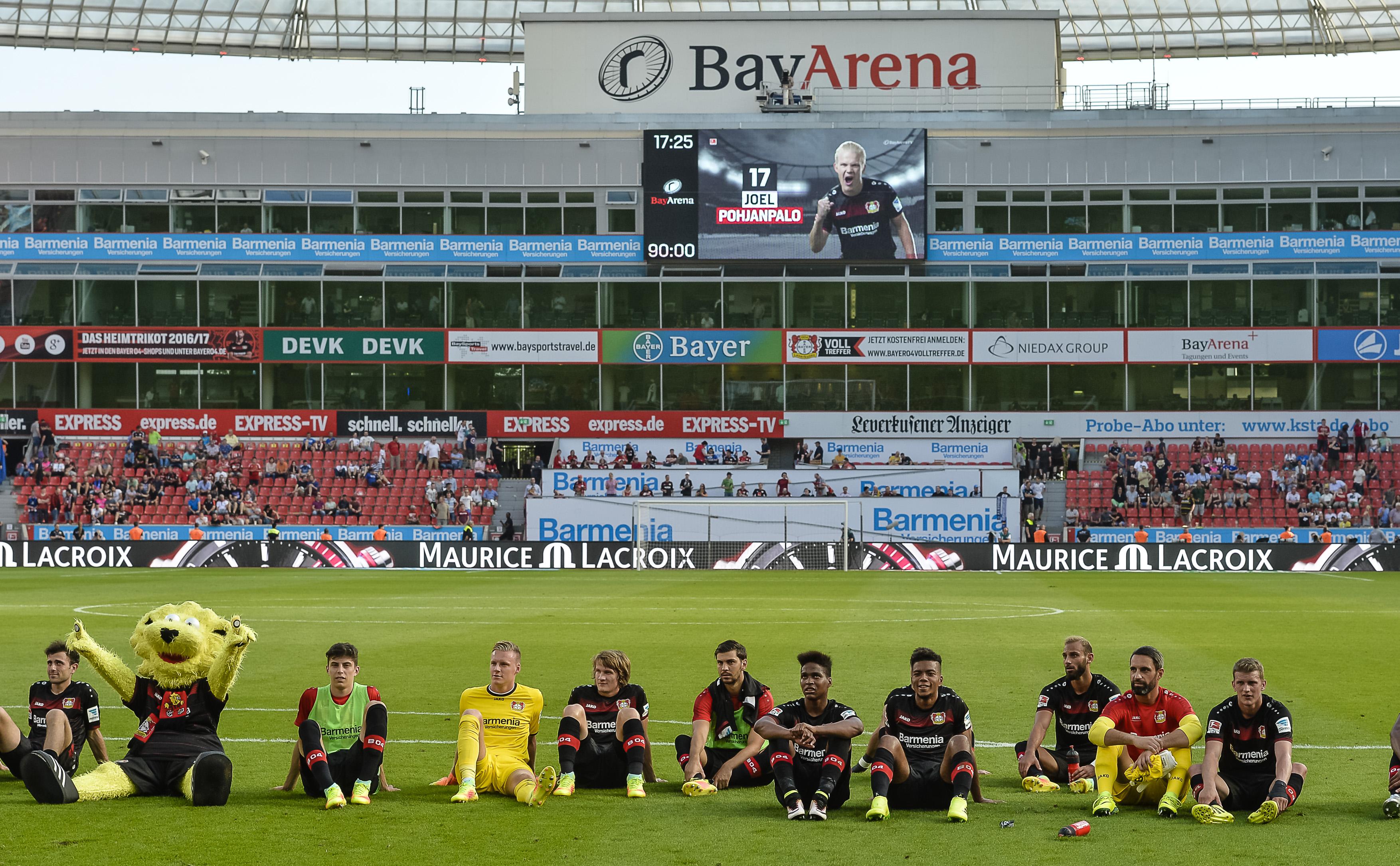 1. Fussball Bundesliga Bayer Leverkusen gegen Hamburger SV