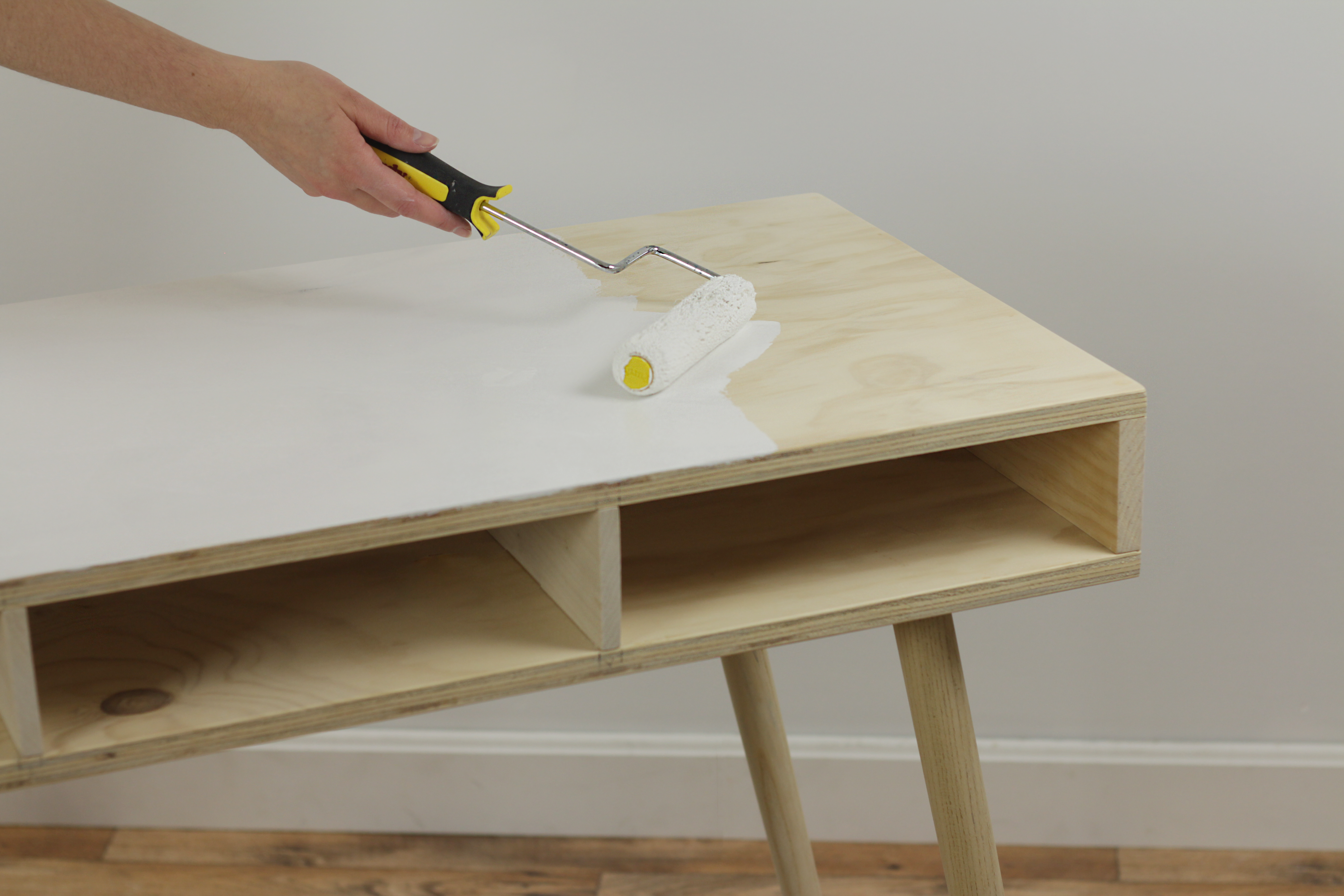 Painting a bare wood desk