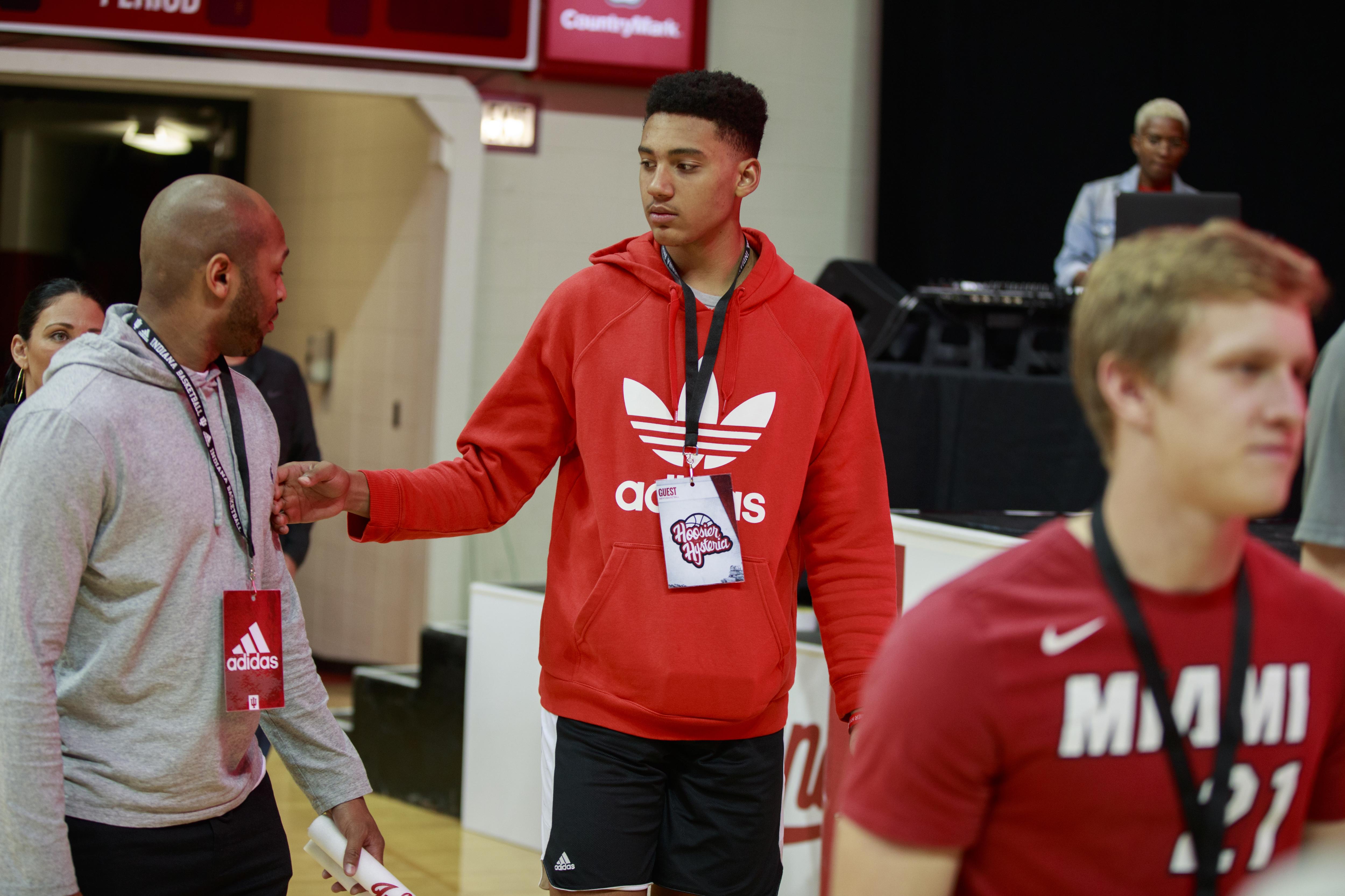 Indiana University basketball recruit, Trey Kaufman visits...