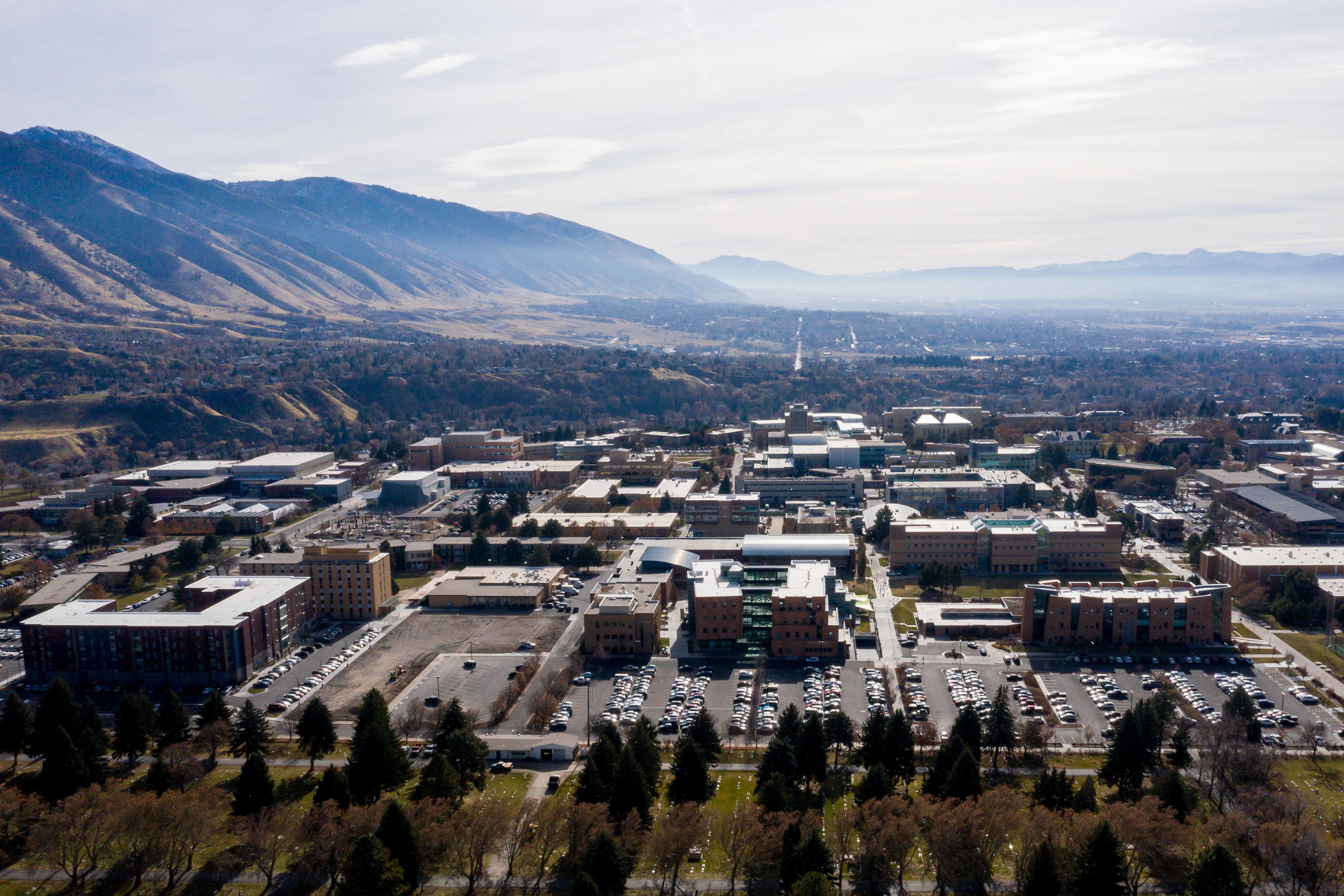 The campus of Utah State University in Logan is pictured on Thursday, Nov. 14, 2019.