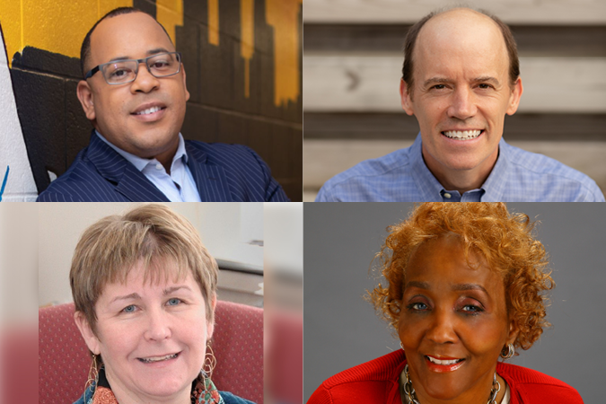 Photos of the winning candidates Kenneth Allen, Will Pritchard, Diane Arnold, and Venita Moore.