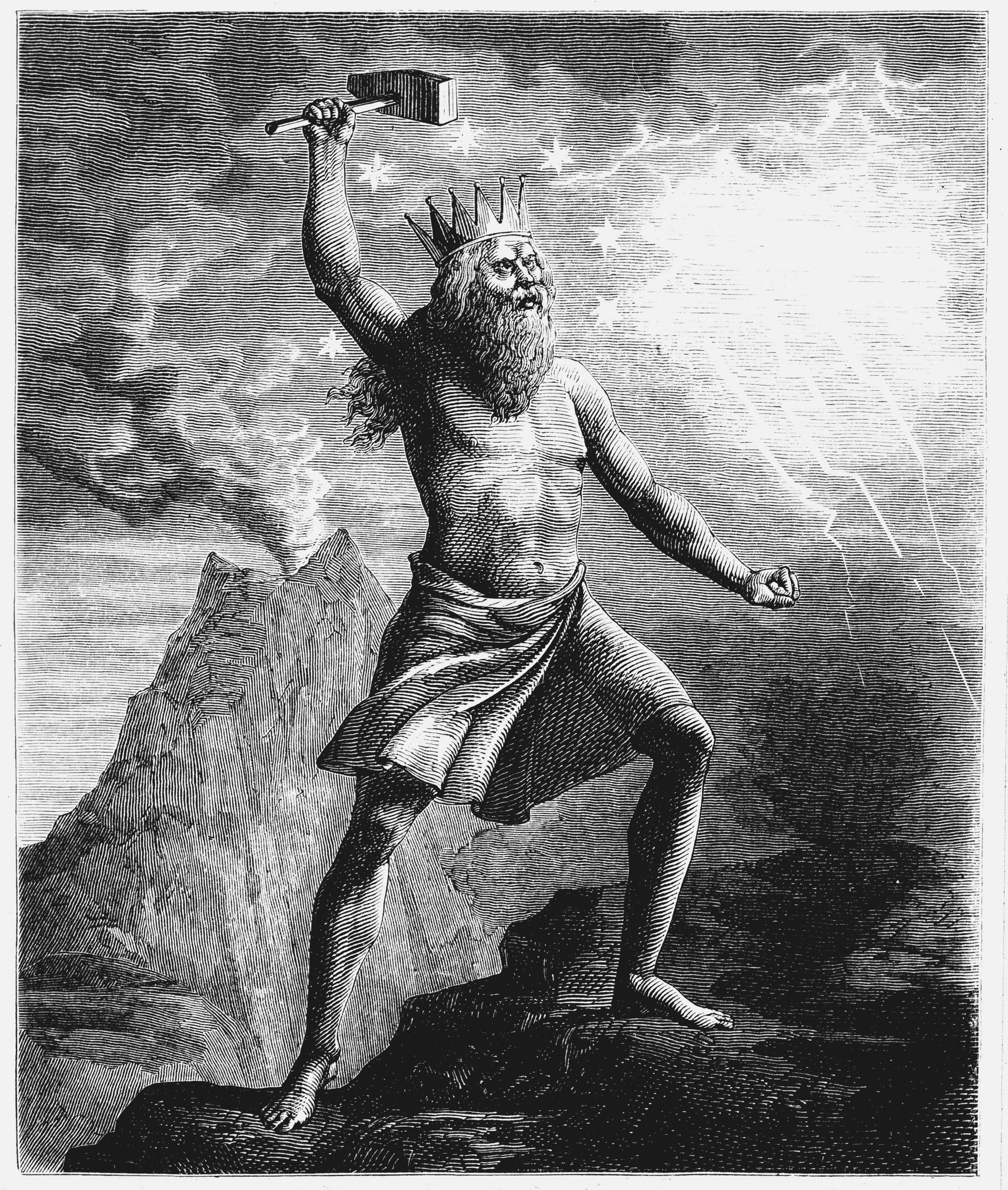 Thor, son of Woden or Odin, god of thunder in the Scandinavian pantheon