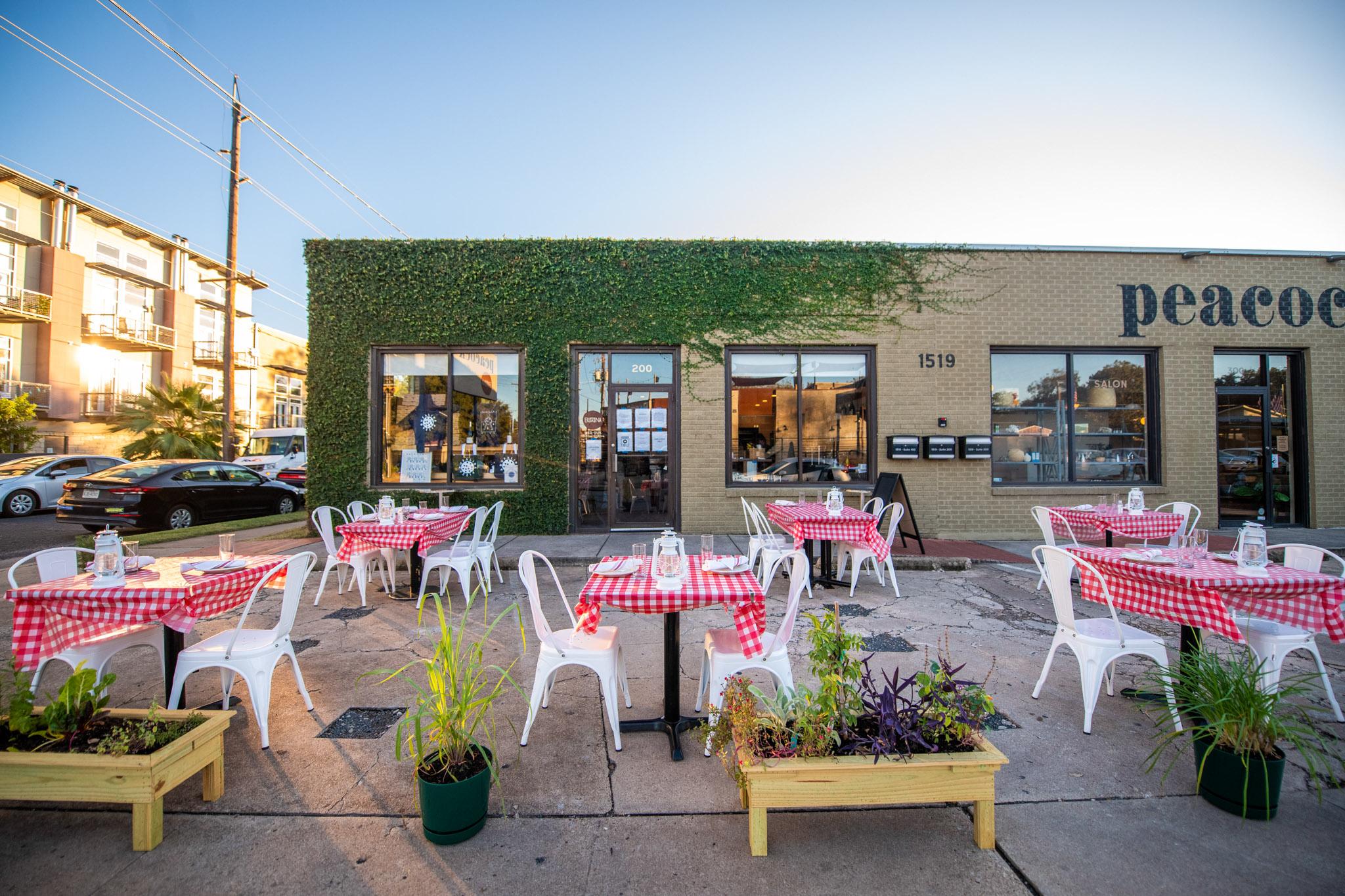 The new sidewalk patio at Bufalina