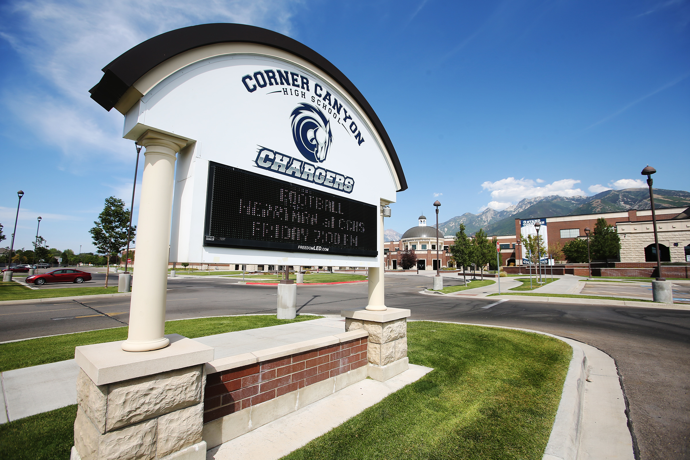 Corner Canyon High School in Draper is pictured on Monday, Aug. 17, 2020.