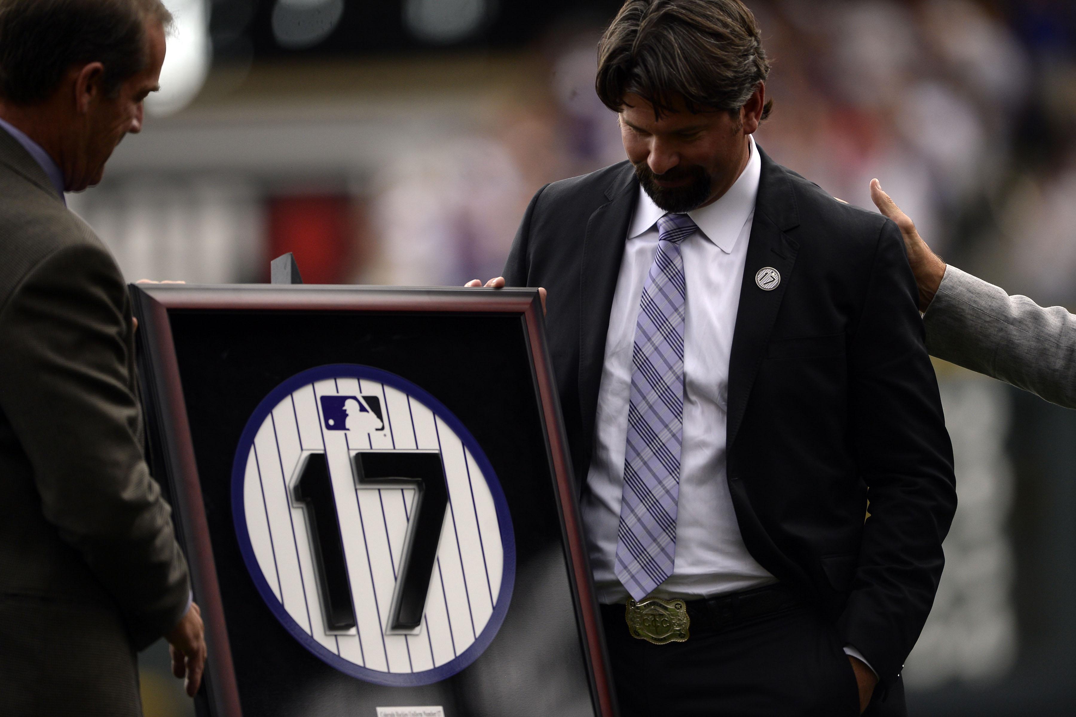 Todd Helton number retired in Denver
