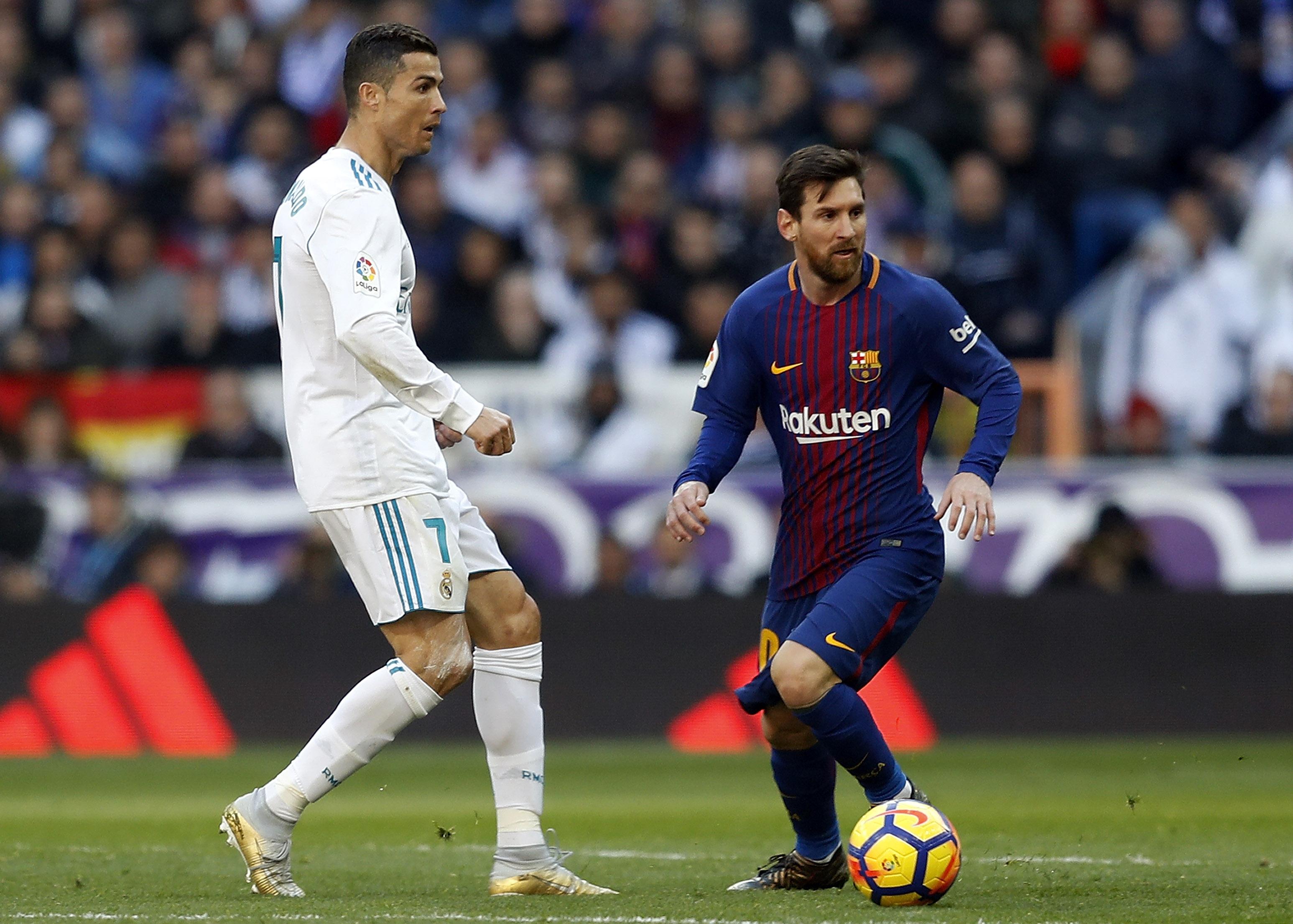 Cristiano Ronaldo and Lionel Messi - Real Madrid v Barcelona - La Liga
