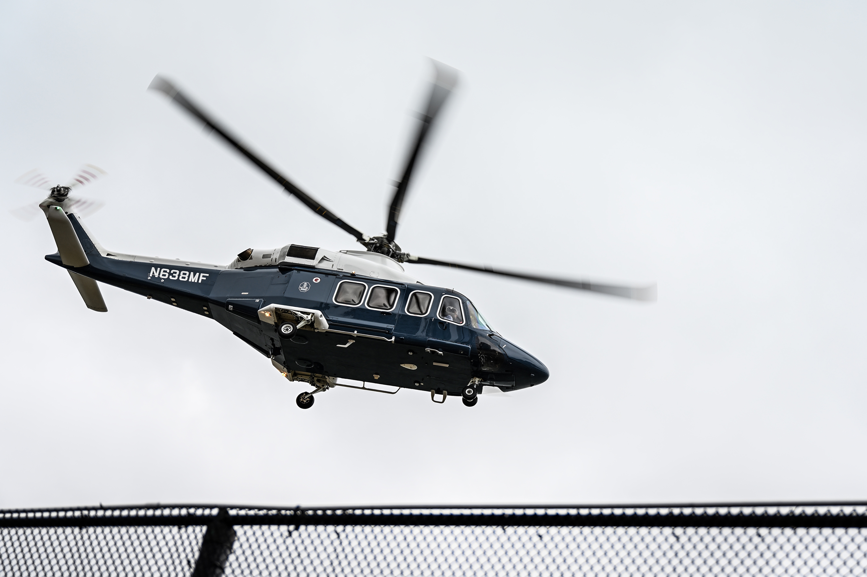 A helicopter takes from West 30th Street V.I.P Heliport in Manhattan, Nov. 12, 2020.