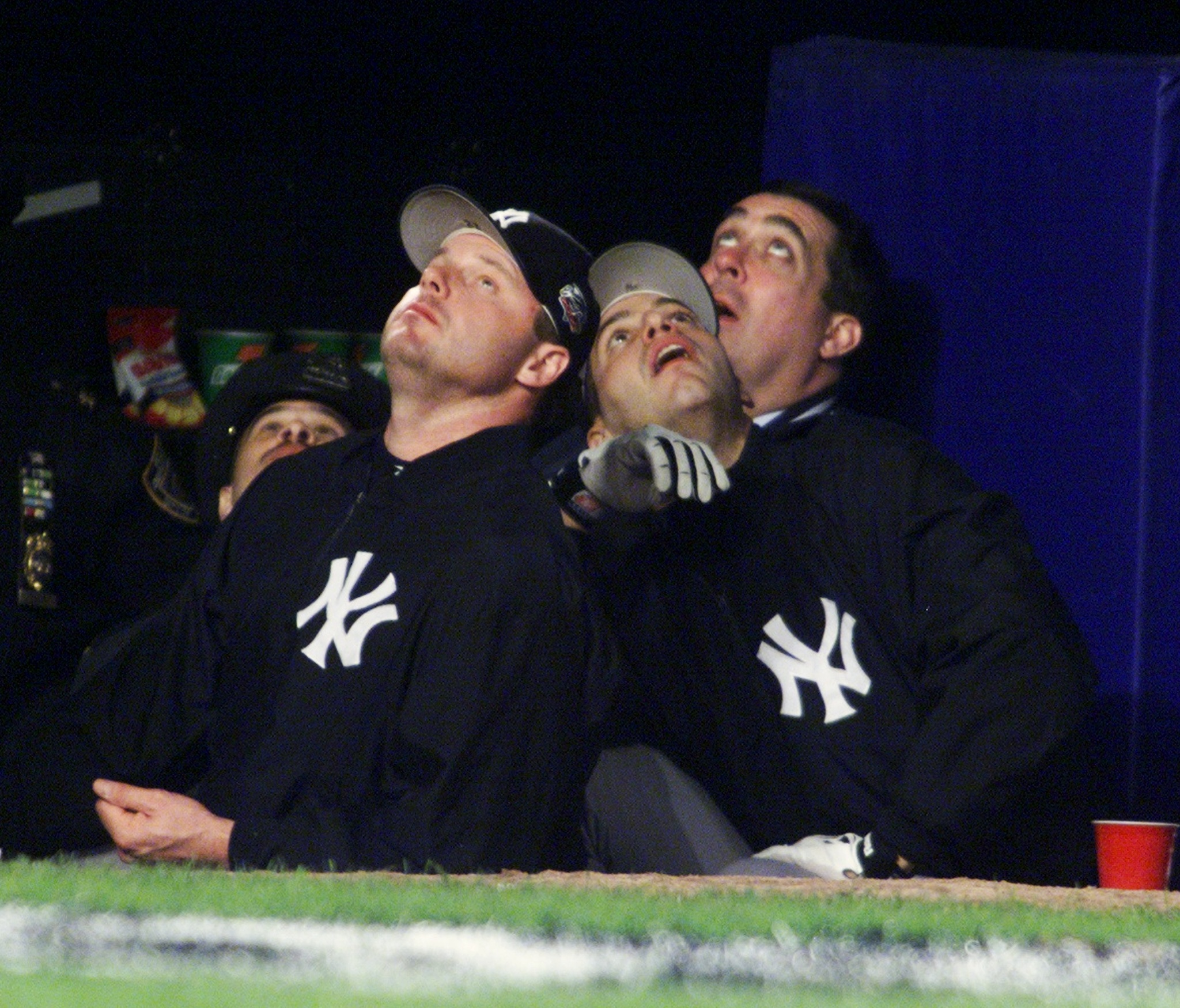 New York Yankees pitchers Roger Clemens (left) and Andy Pettitte
