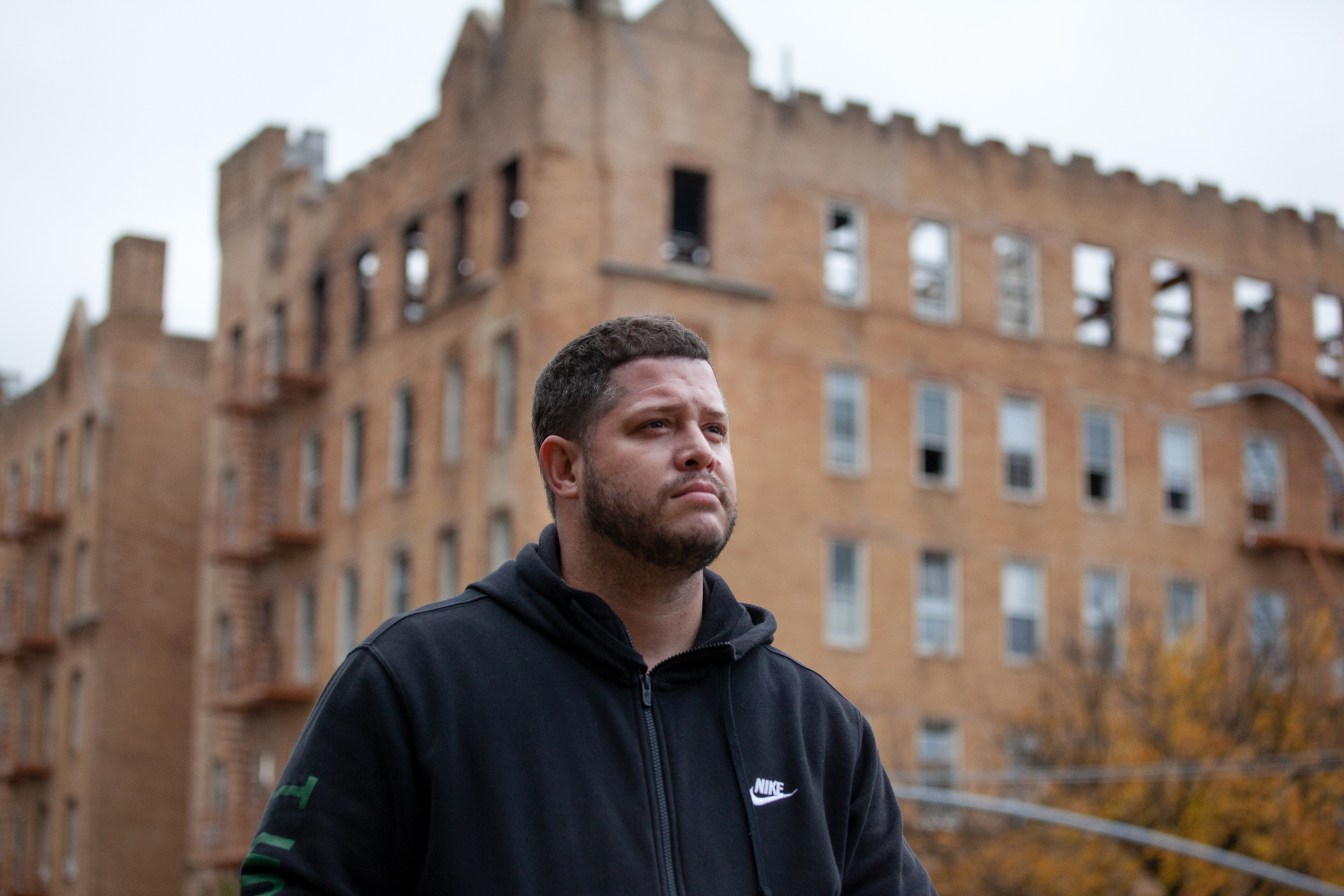David Marrero struggled to find a home for ailing mother after they were forced out of their Sunset Park home when their building was destroyed in a fire.