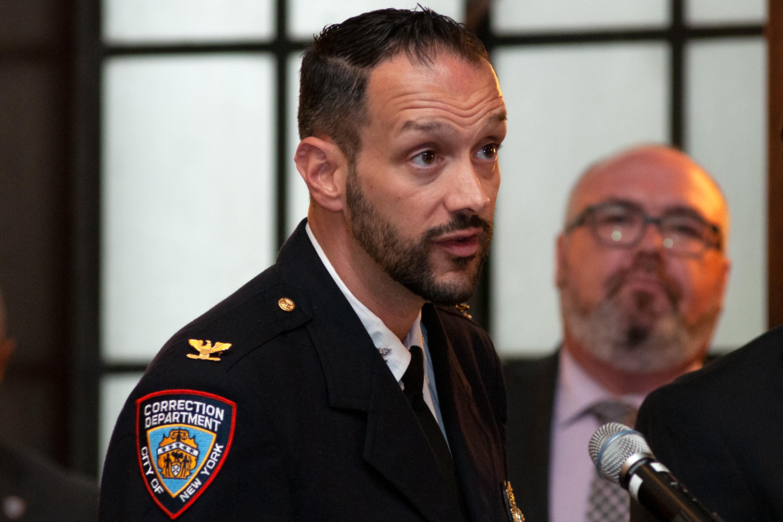 Warden Joseph Caputo Joe Caputo speaks at a Board of Correction meeting in Lower Manhattan, July 9, 2019.