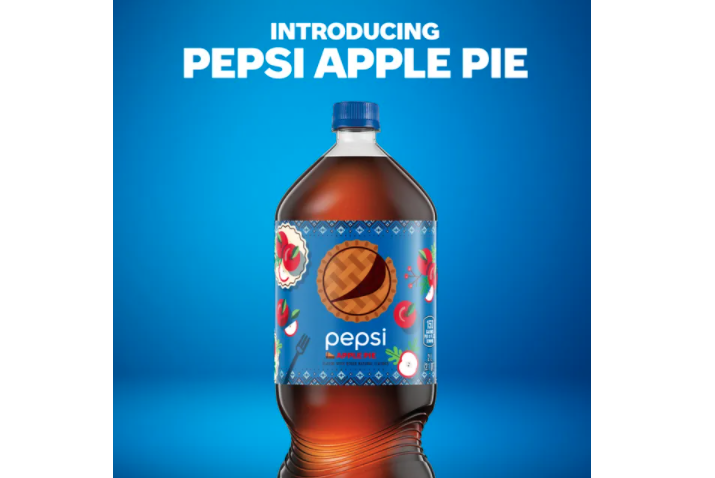 Pepsi's apple pie-flavored cola is not yet available in stores, but Pepsi fans can get a free two liter bottle by submitting a photo or video of their failed attempt to bake on Twitter or TikTok and using the hashtag#PepsiApplePieChallenge.