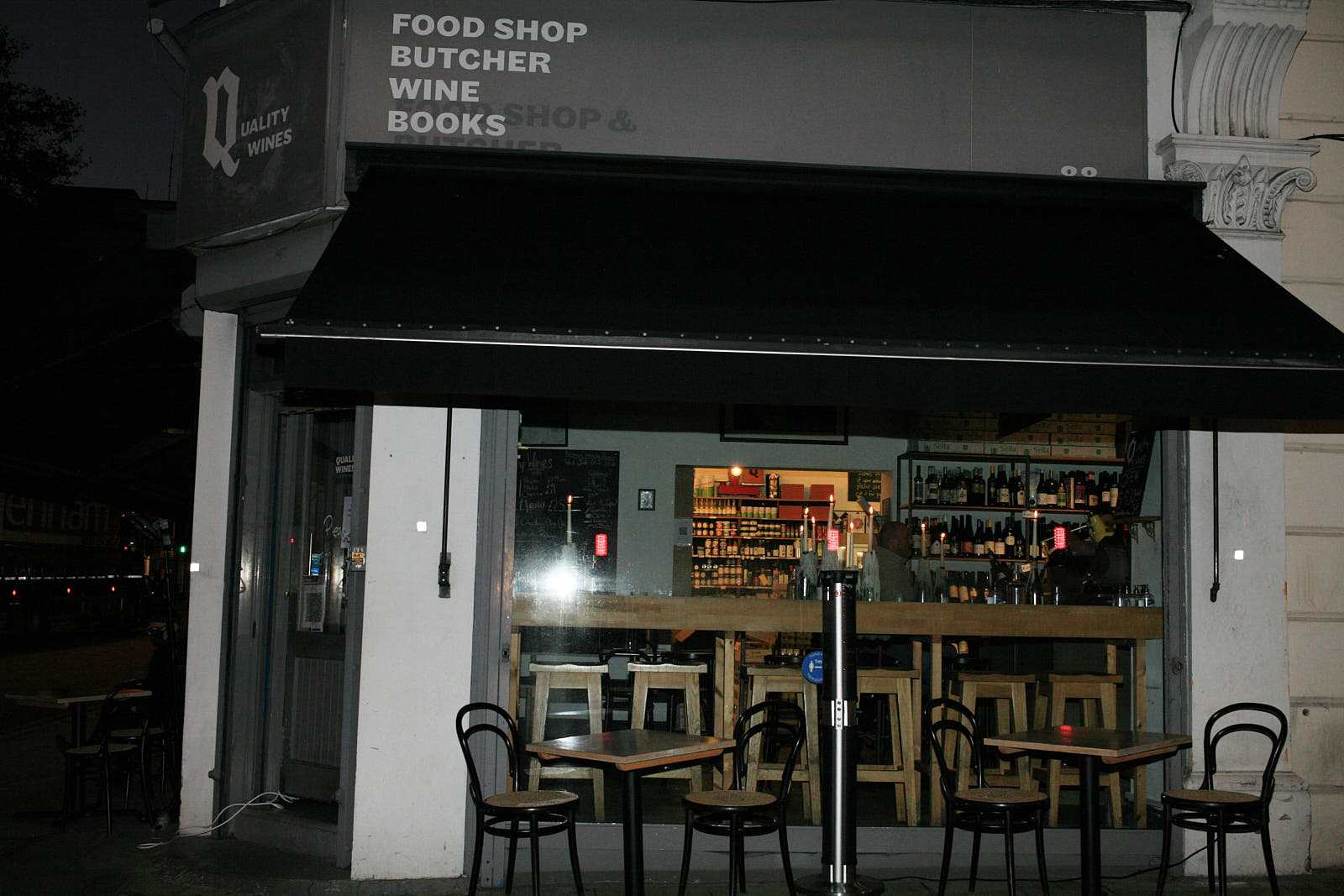 Quality Wines, one of London's best wine bar and restaurants, the evening before it closed at the beginning of November