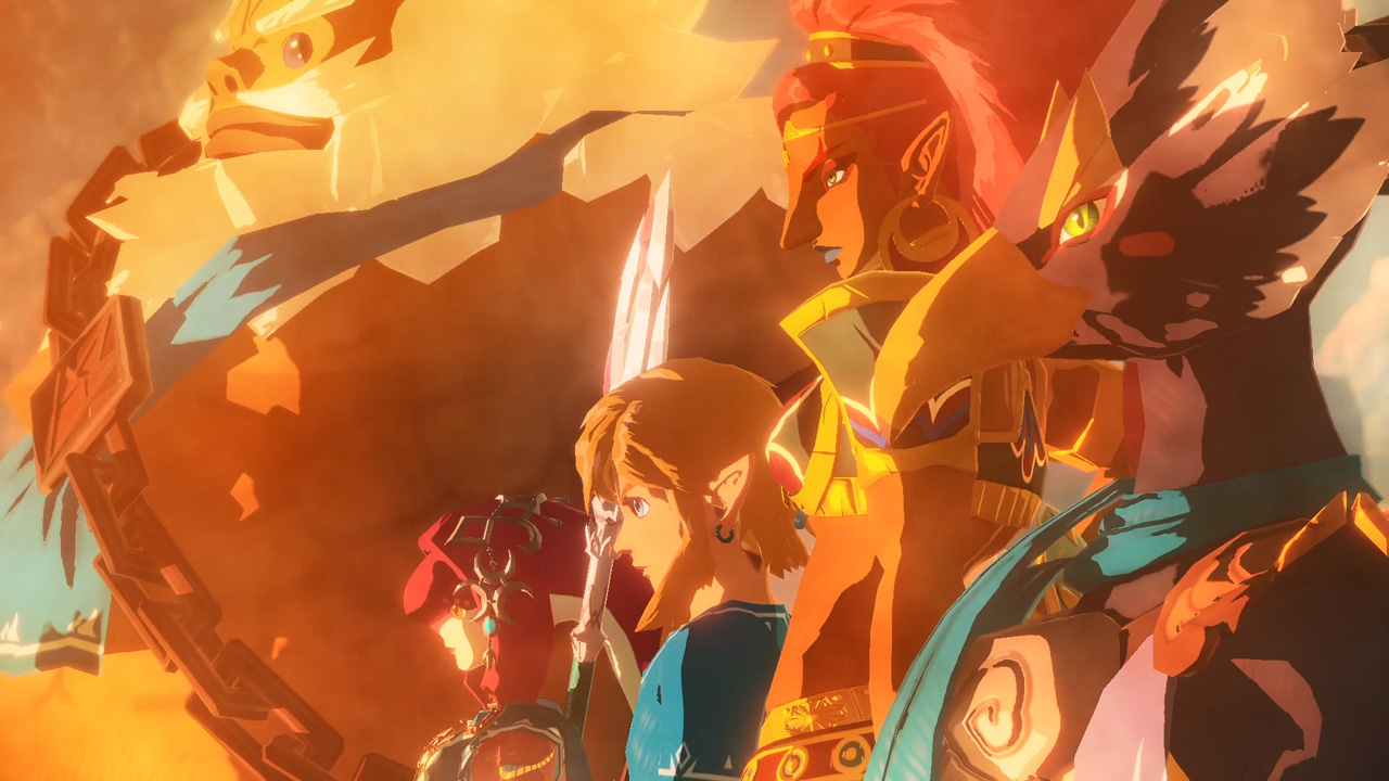 The cast of Hyrule Warriors: Age of Calamity
