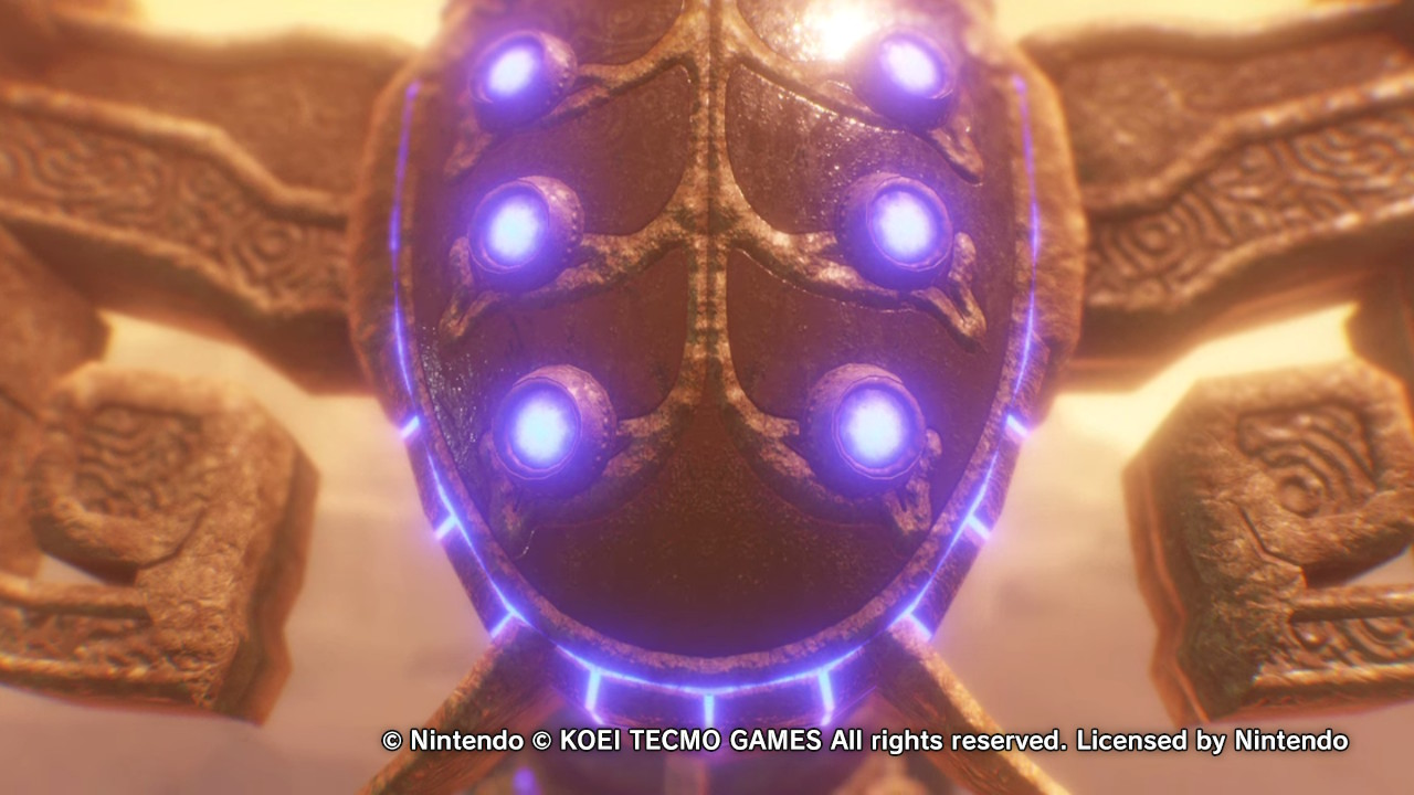 Vah Naboris, the Divine Beast from Hyrule Warriors: Age of Calamity