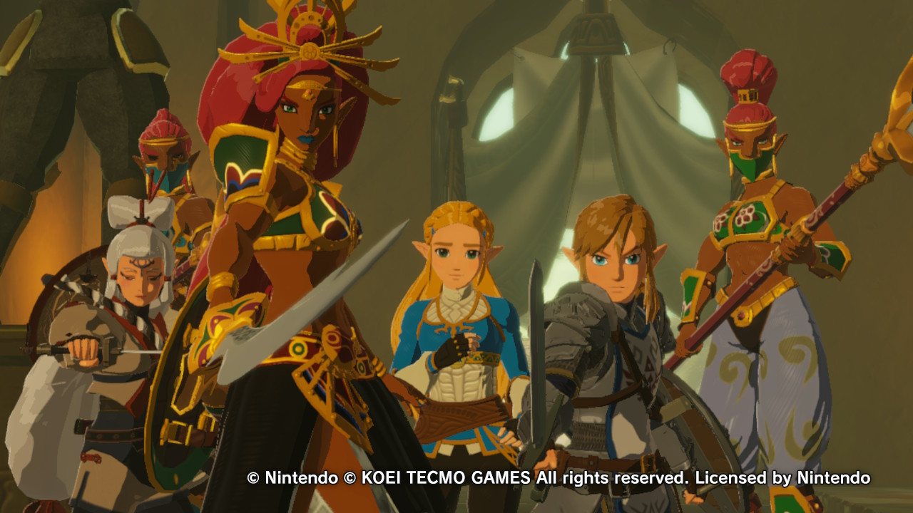 Several of the main characters of Hyrule Warriors: Age of Calamity