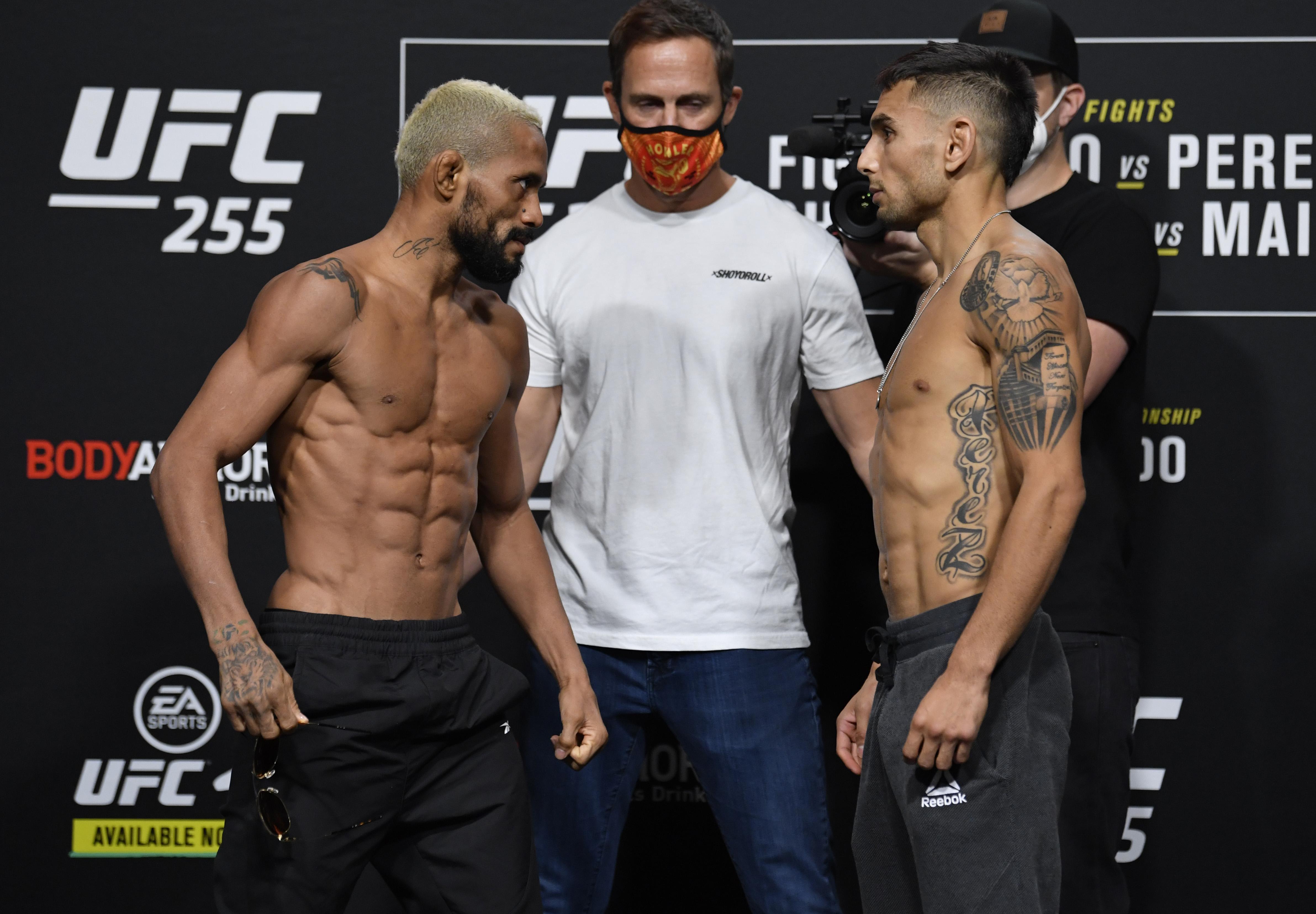 UFC 255 Figuereido v Perez:称重