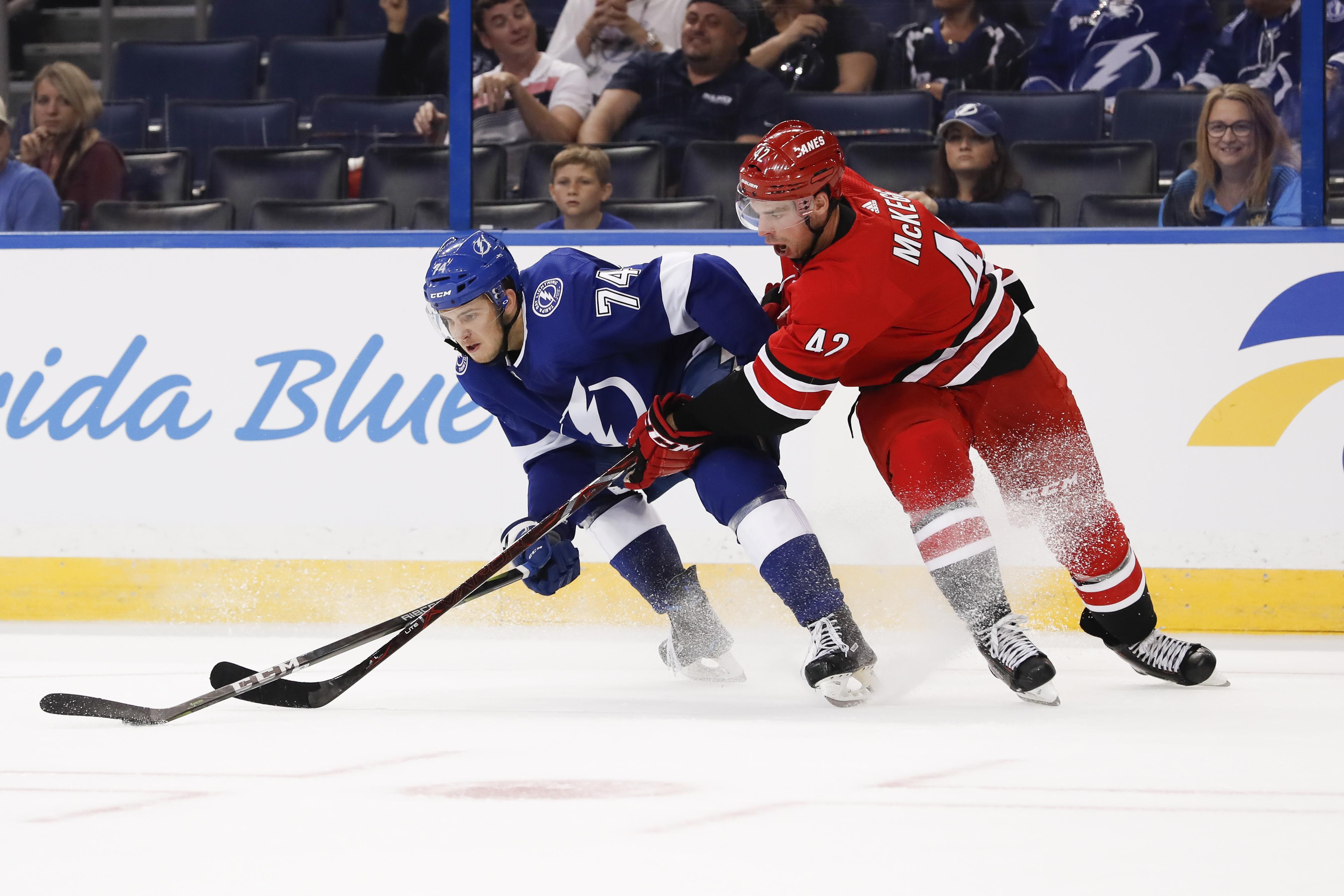 NHL: SEP 18 Preseason - Hurricanes at Lightning