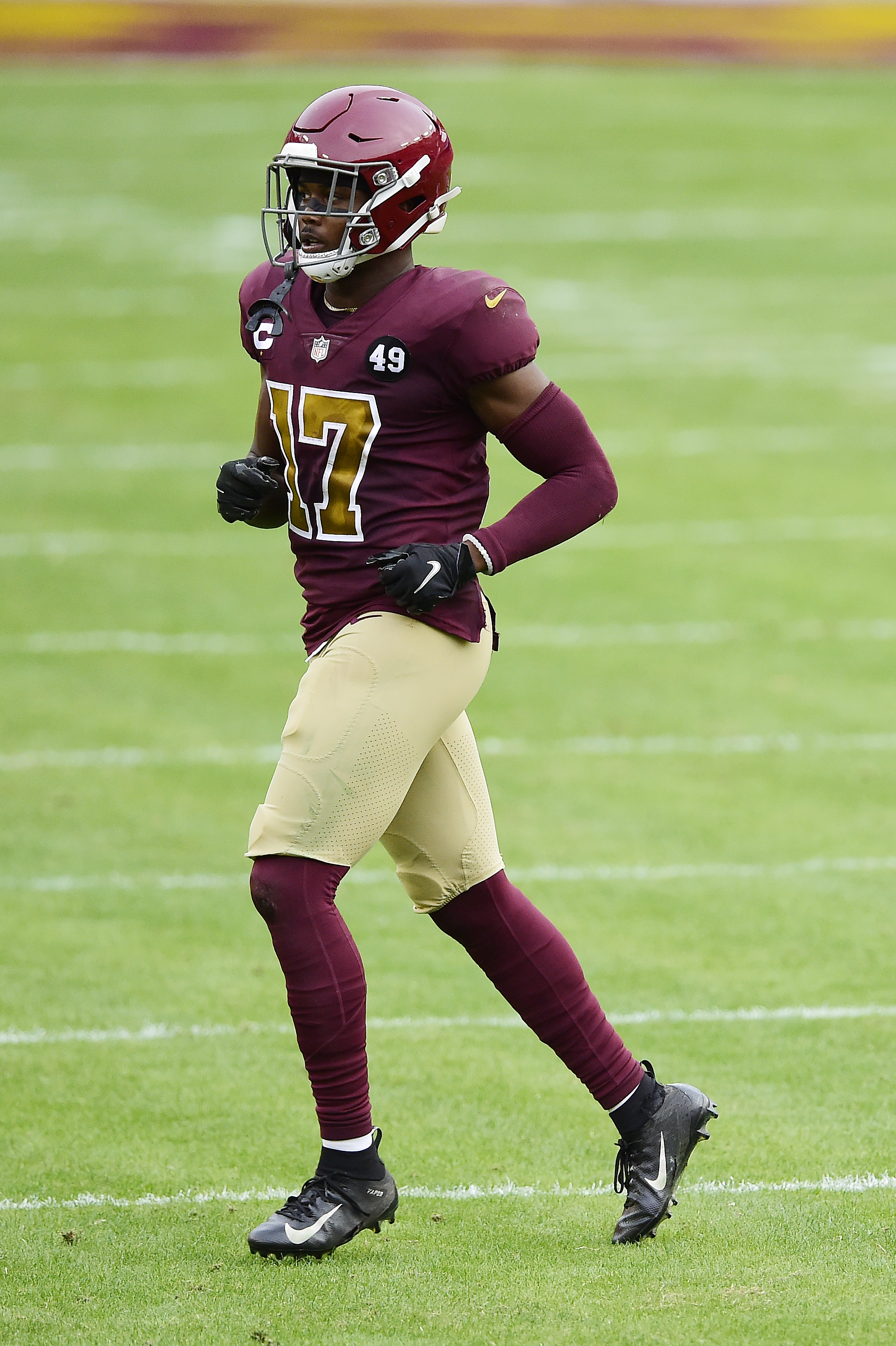 Terry McLaurin #17 of the Washington Football Team in action in the second half against the Cincinnati Bengals at FedExField on November 22, 2020 in Landover, Maryland.