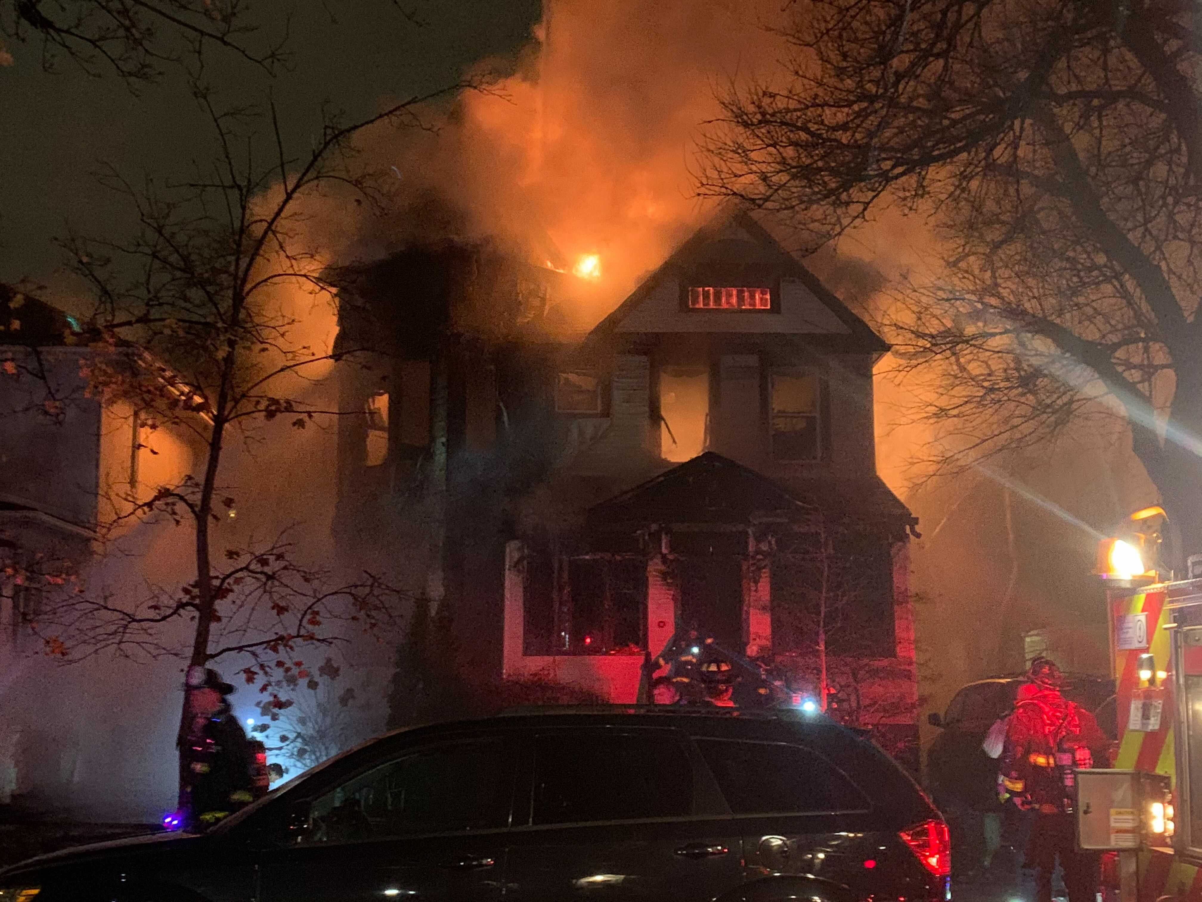 An elderly man and woman died Thursday night in a house fire in the 4200 block of North Kildare in the Old Irving Park neighborhood on the Northwest Side of Chicago.