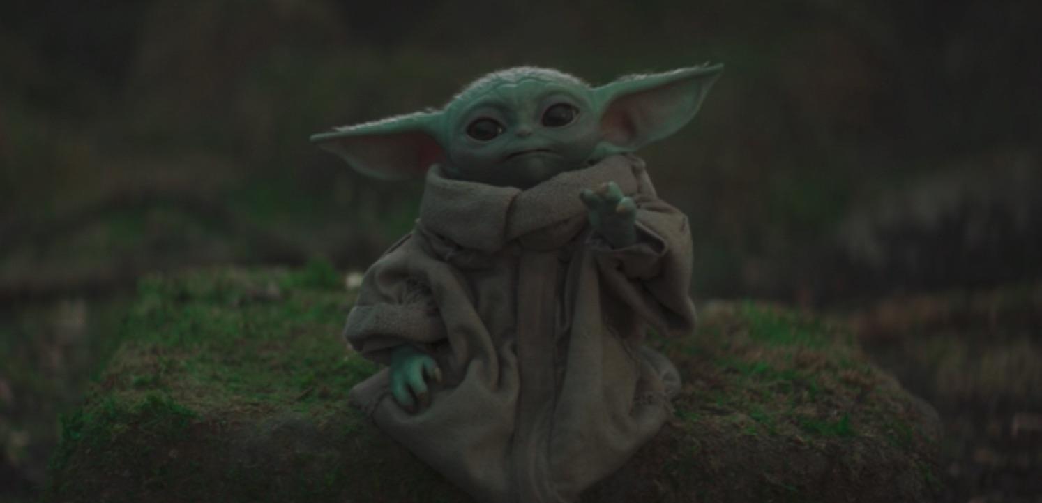 Grogu aka Baby Yoda aka The Child in The Mandalorian Chapter 15, using the Force