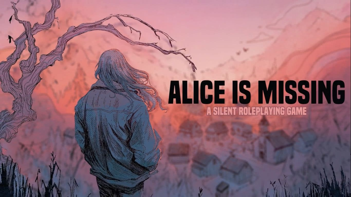 The cover of Alice Is Missing shows a woman overlooking a small town