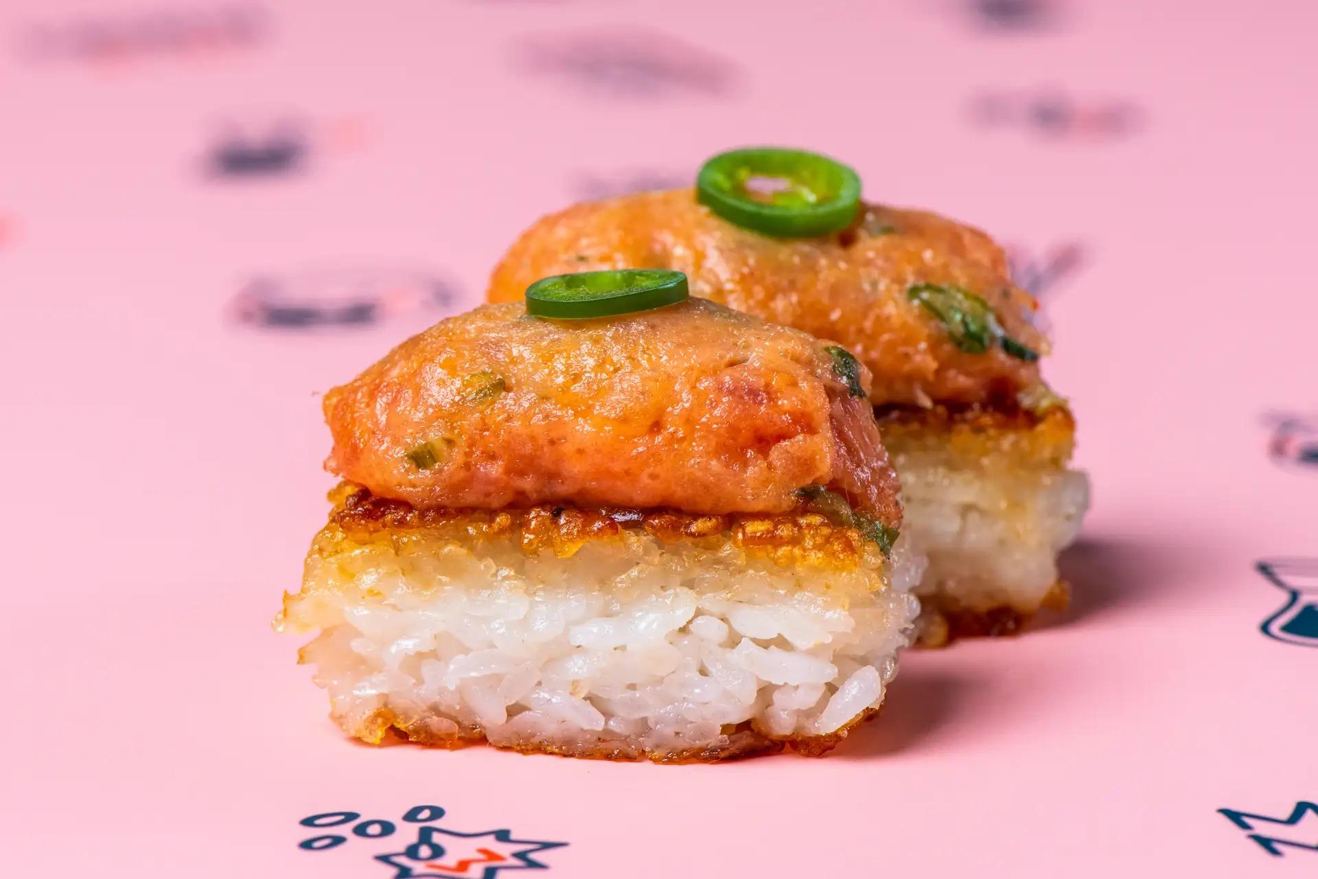 Krispy Rice's spicy tuna krispy rice