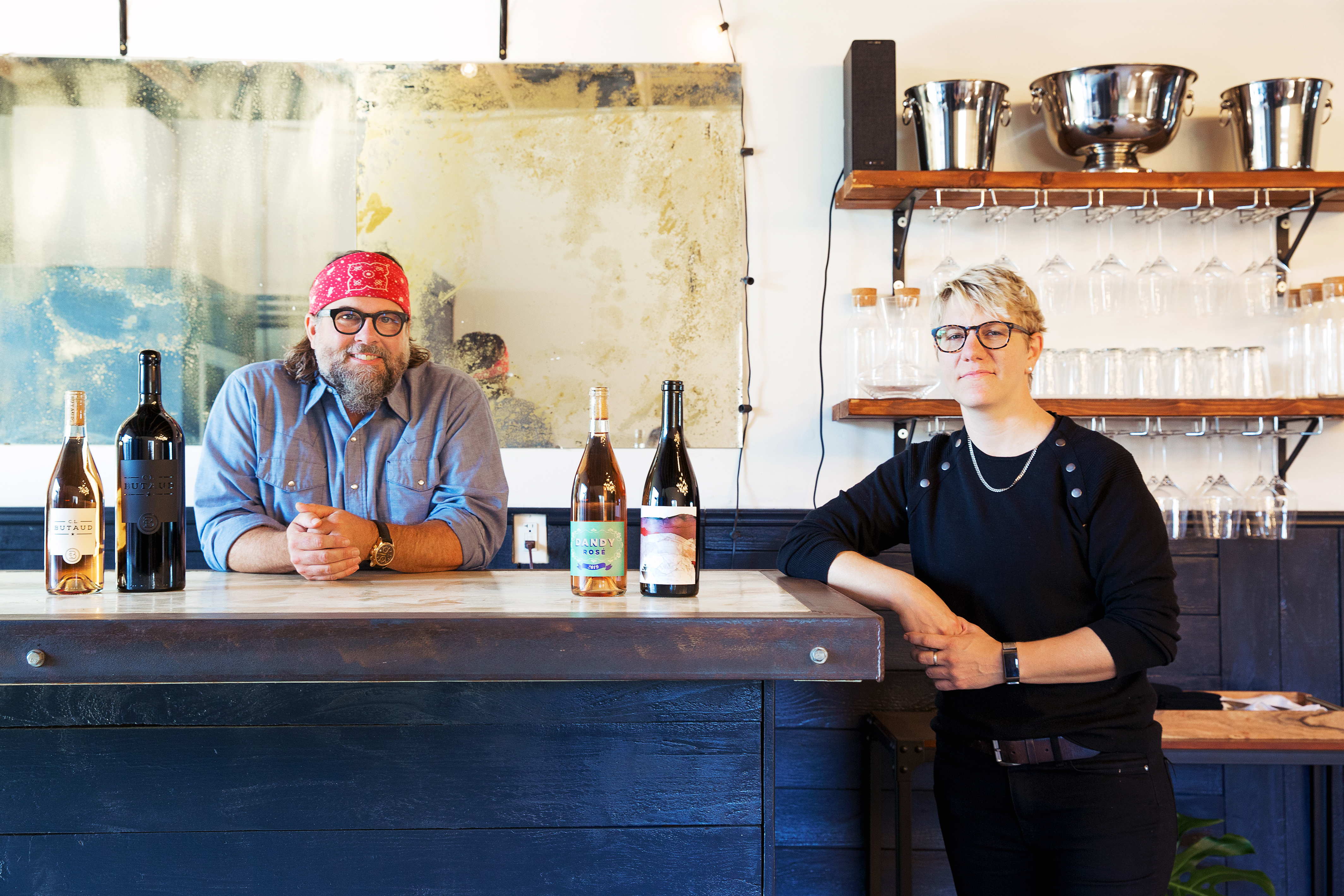 C.L. Butaud's Randy Hester and Wine for the People's Rae Wilson at their new tasting room