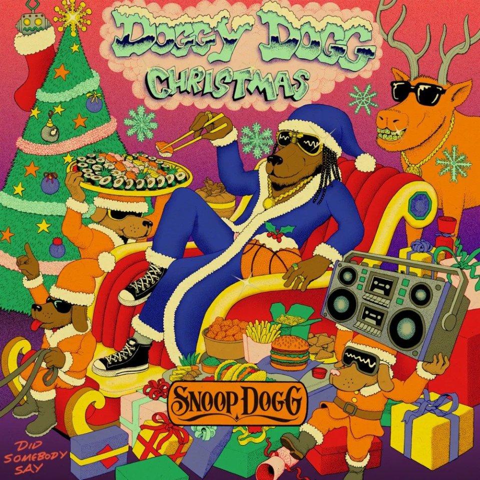 """Snoop Dogg's """"Doggy Dogg Christmas"""" artwork"""