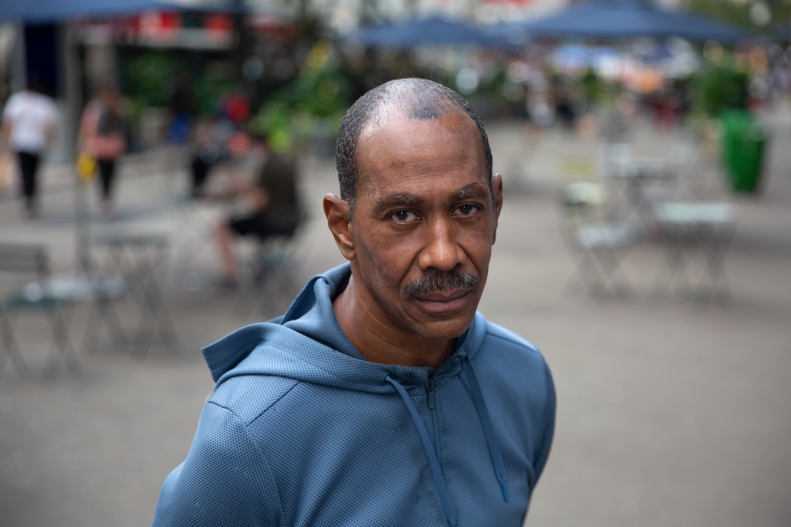 Charles Barry has been arrested more than 160 times for hustling tourists around Times Square, Sept. 16, 2020.