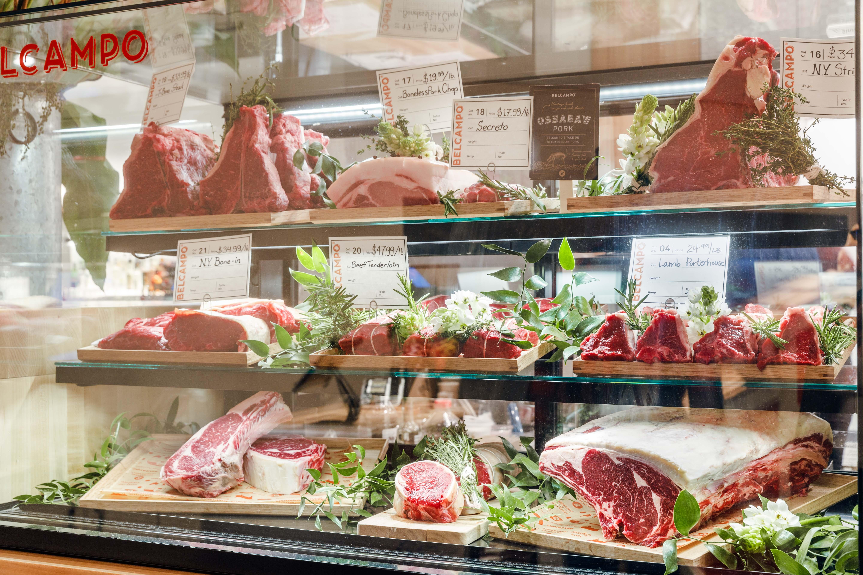 Belcampo's butcher case