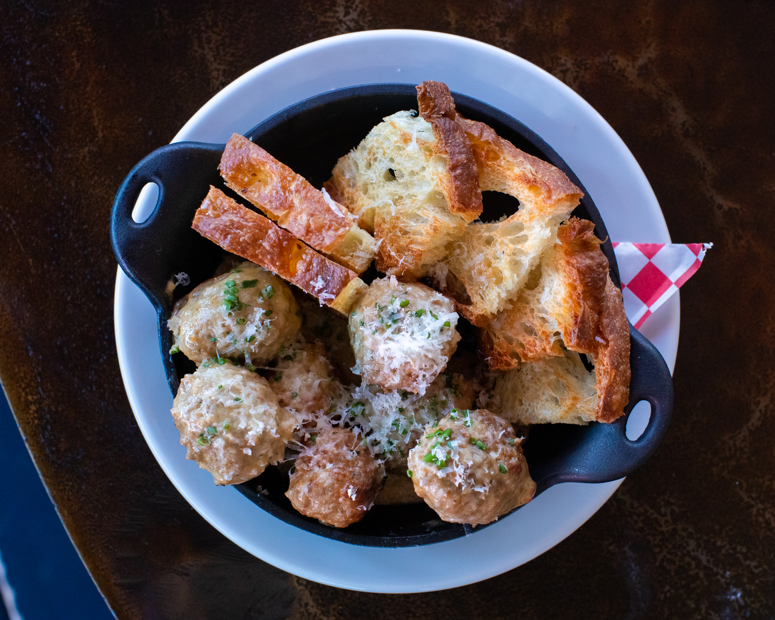 The meatballs dish from Uncle Nicky's