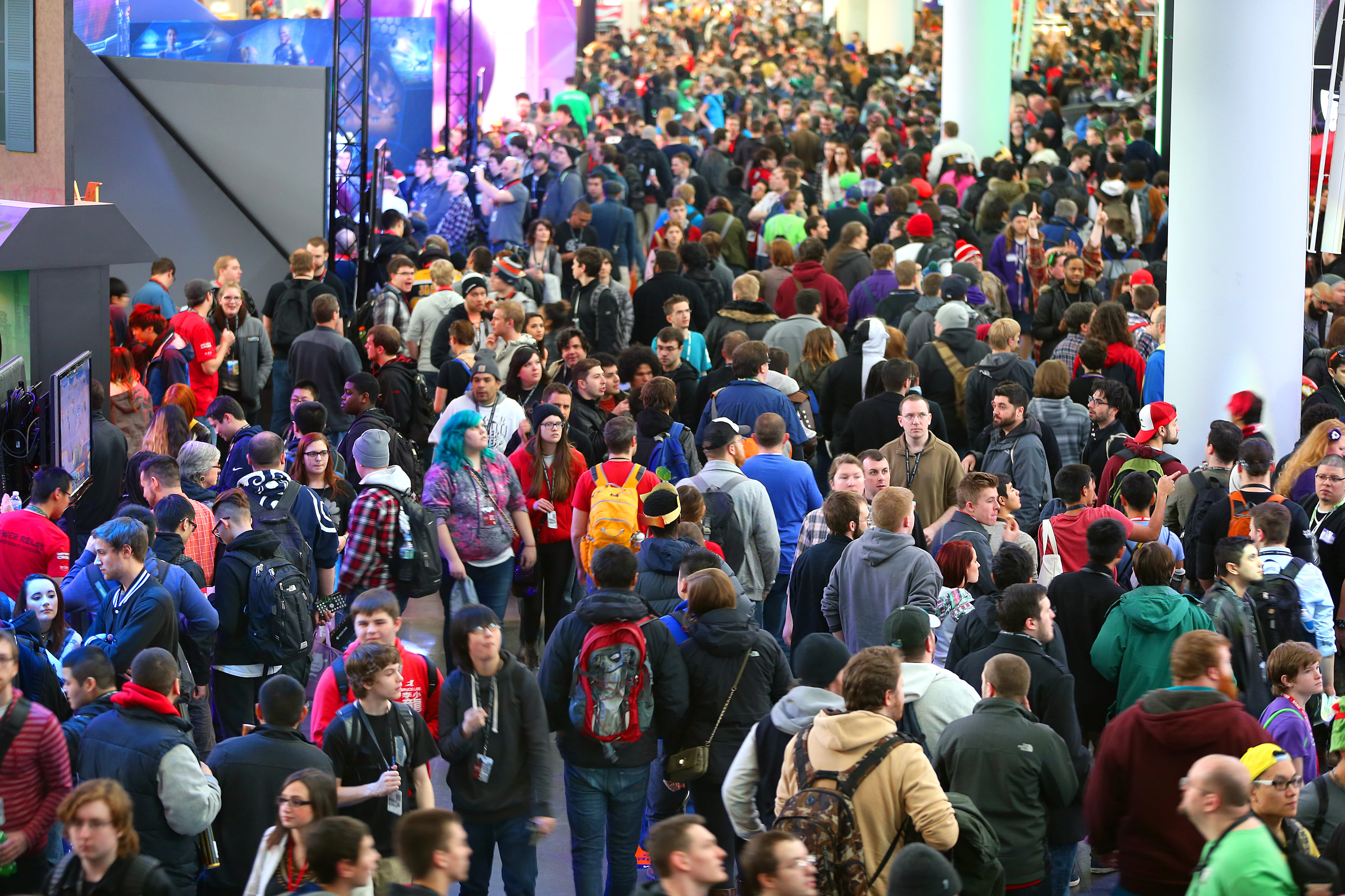 A photo of the crowd attending PAX East 2015