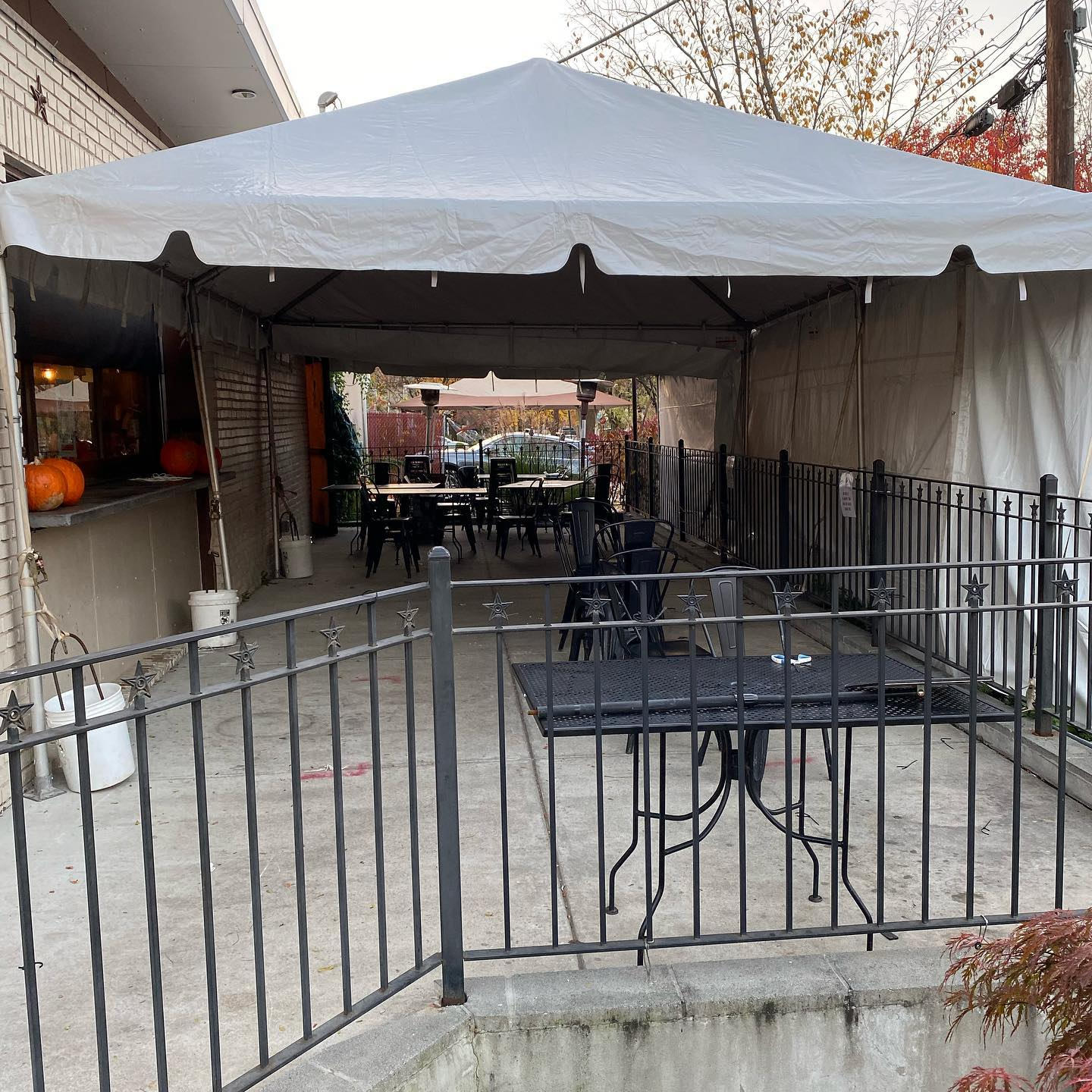 An out-of-town customer on the patio at Brookland's Finest joked to a waiter Wednesday night that he might have been exposed to COVID-19